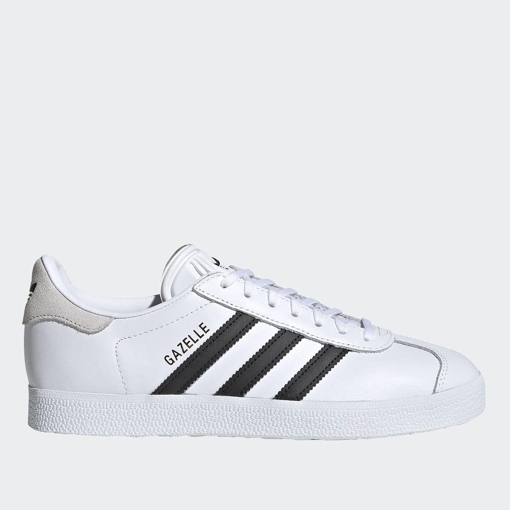 adidas scarpe sneakers linea gazelle w colore bianco e nero