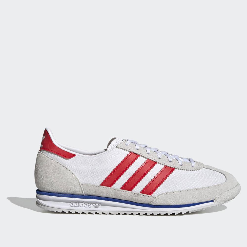 adidas scarpe sneakers linea sl 72 colore grigio bianco e rosso