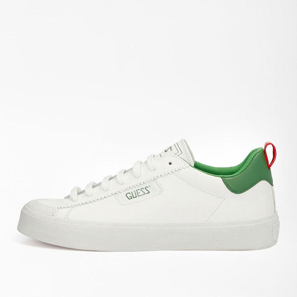 Guess Scarpe Uomo Sneakers di colore Bianco e Verde Linea Mima
