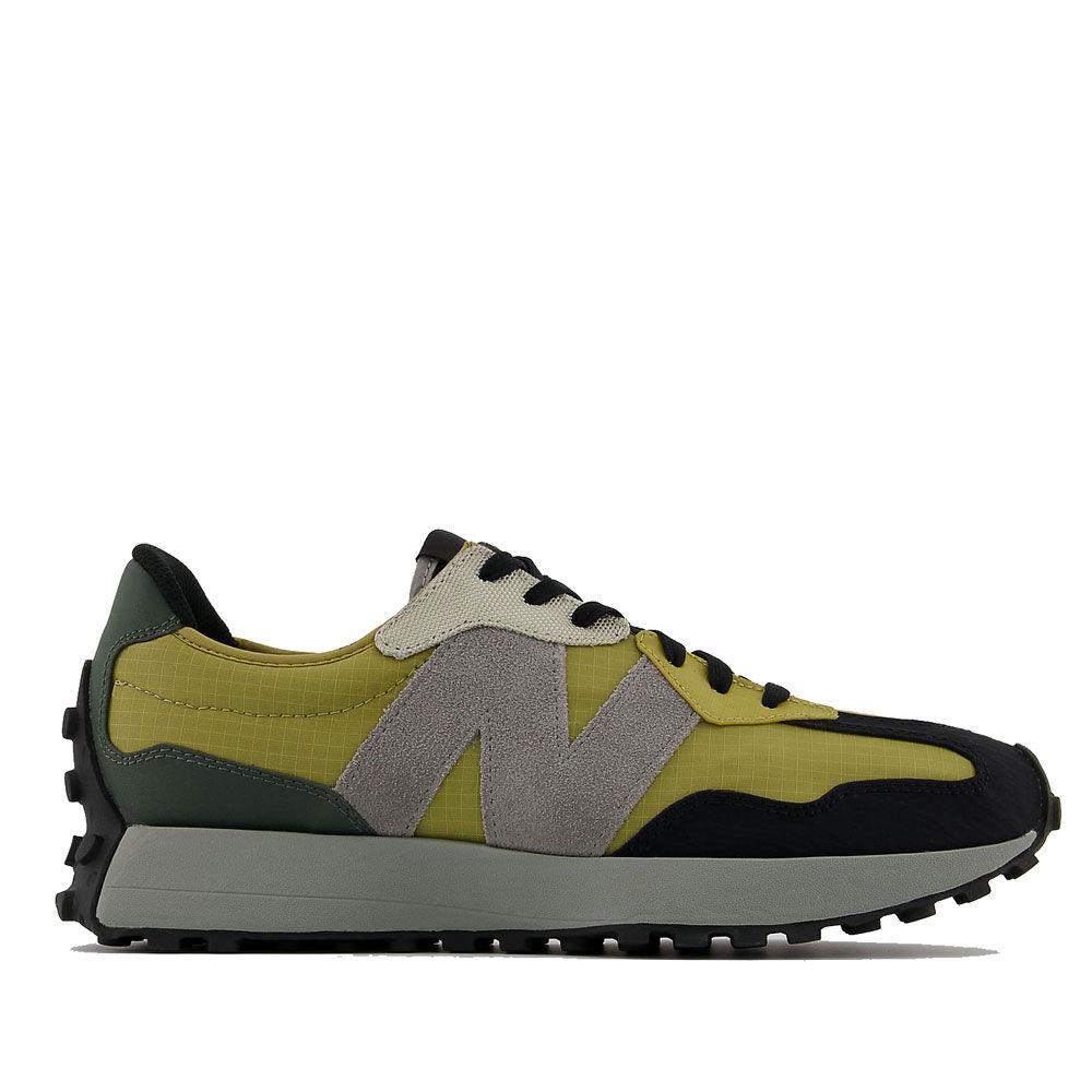 New Balance Scarpe Uomo Sneakers 327 in Suede e Nylon colore Byzantine Gold e Golden Poppy