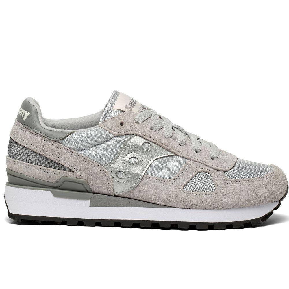 saucony scarpe donna sneakers shadow original grey silver