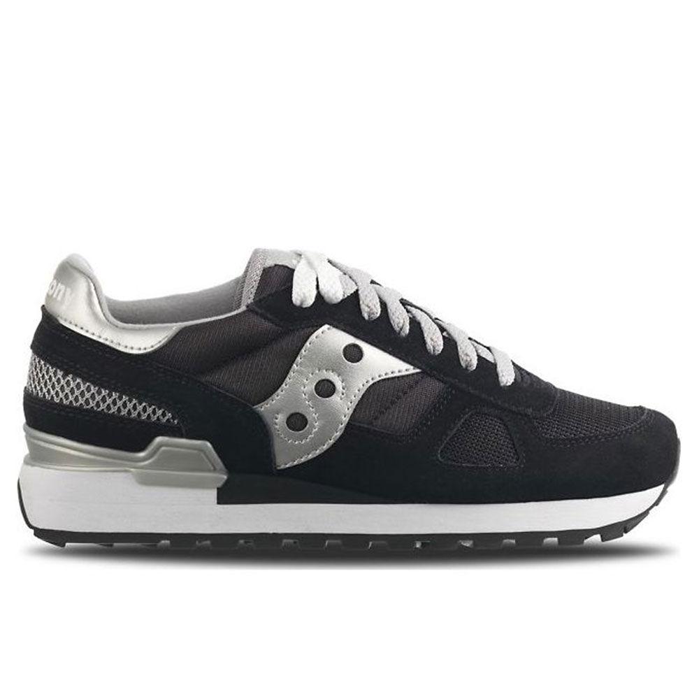 saucony scarpe donna sneakers shadow original nero silver