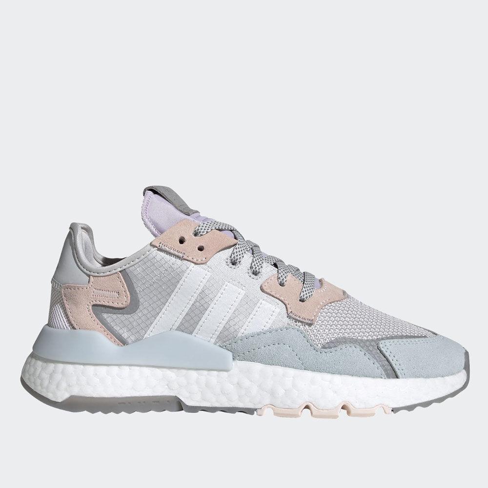 Adidas Scarpe Donna Sneakers linea Nite Jogger W colore Grigio Bianco e Rosa