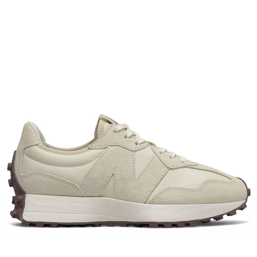 New Balance Scarpe Donna Sneakers 327 in Suede e Nylon colore Angora