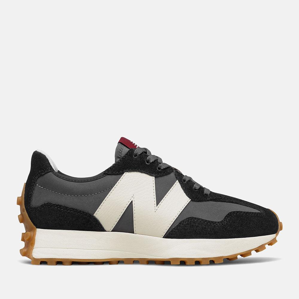 New Balance Scarpe Donna Sneakers 327 in Suede e Nylon colore Black