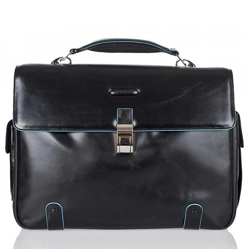 Piquadro Cartella  Borsa Porta Pc e iPad - CA1066B2 Blue Square Nera