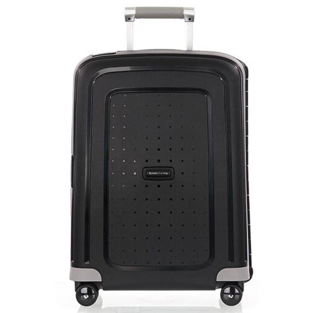 Samsonite Trolley Cabina Rigido 4 Ruote 55cm -  S'Cure Nero