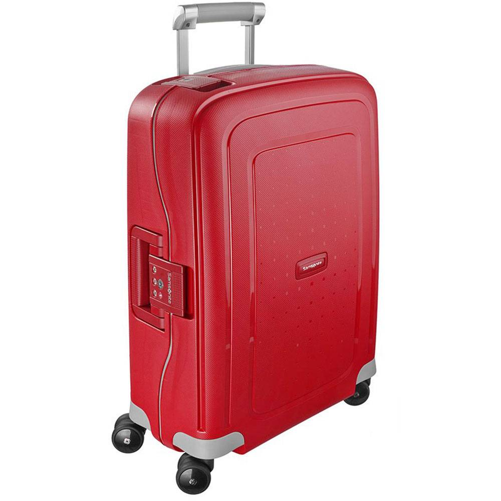 Samsonite Trolley Cabina Rigido 4 Ruote 55cm -  S'Cure Crismon Red