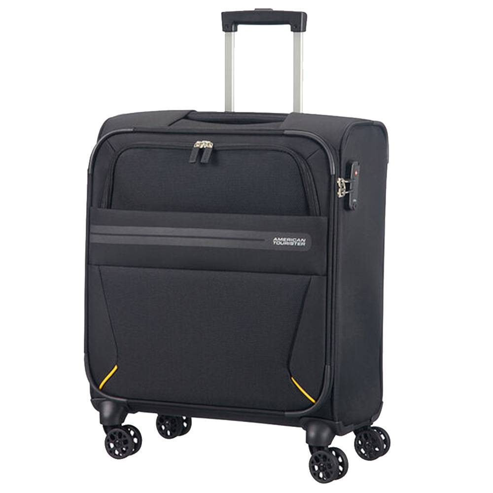 American Tourister Trolley Cabina Semirigido 55cm 4 Ruote 2,6kg -  Summer Voyager Volt Black