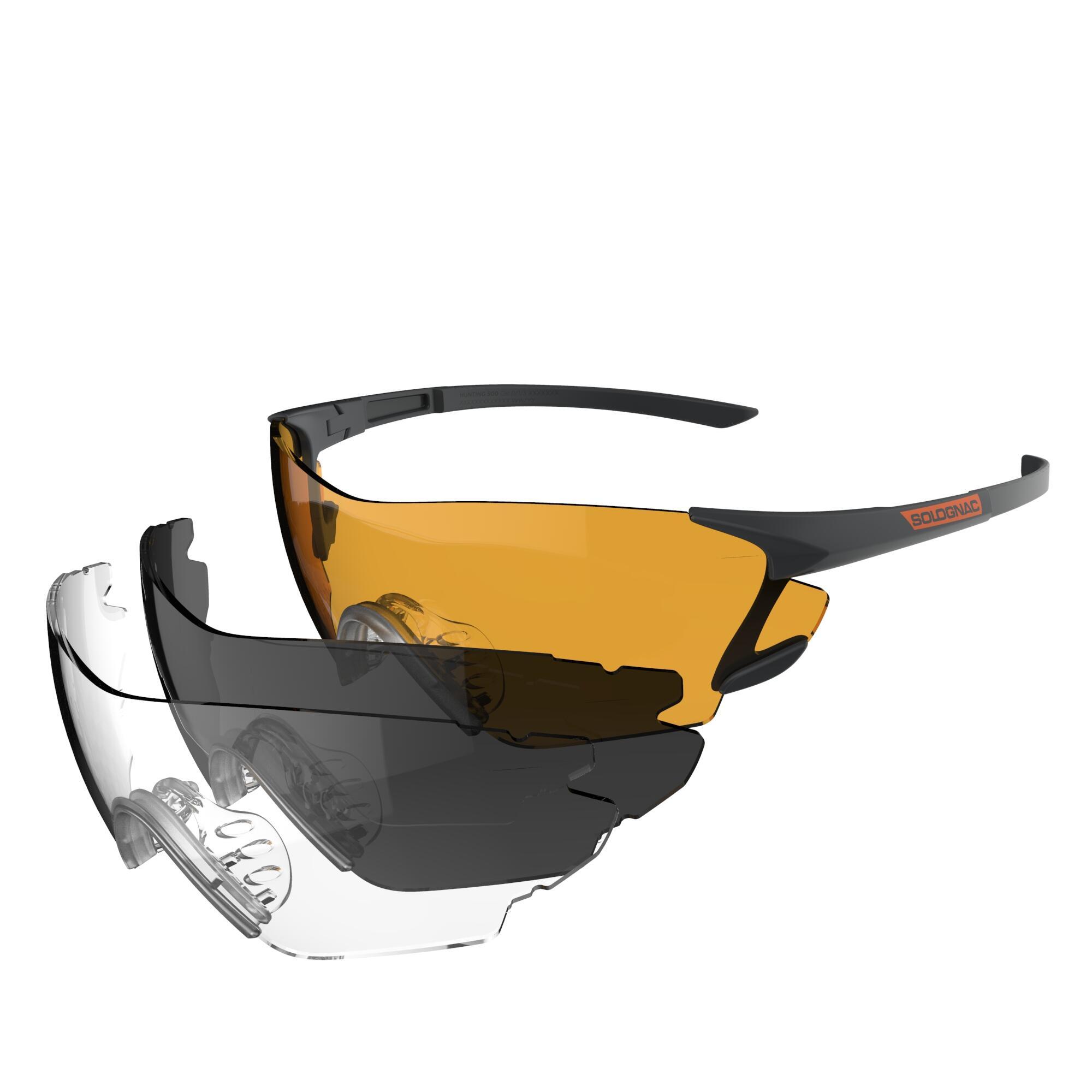 SOLOGNAC Kit occhiali protettivi TIRO A VOLO CLAY 100 PK3 3 lenti intercambiabili