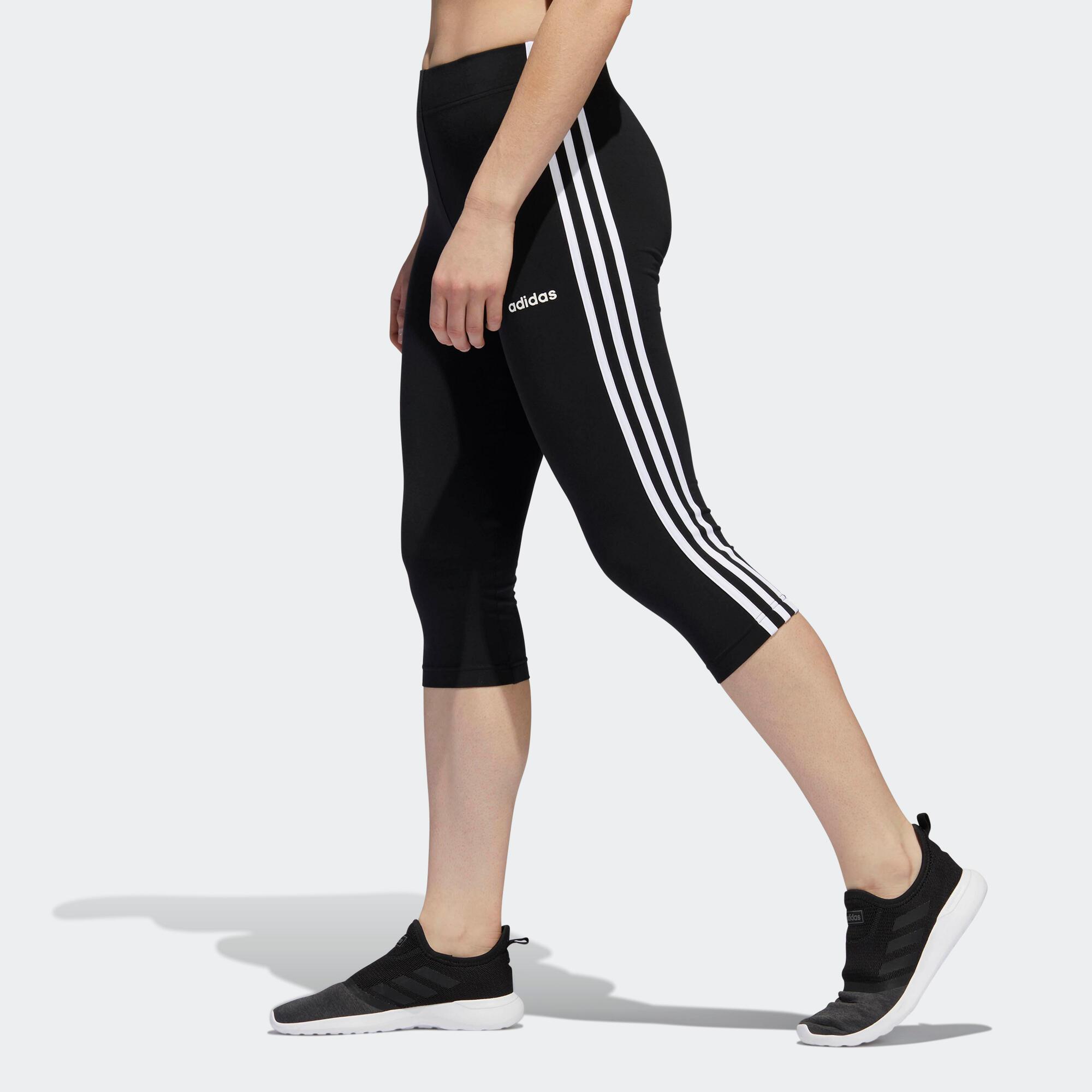 Adidas Corsari donna  ESSENTIAL cotone neri
