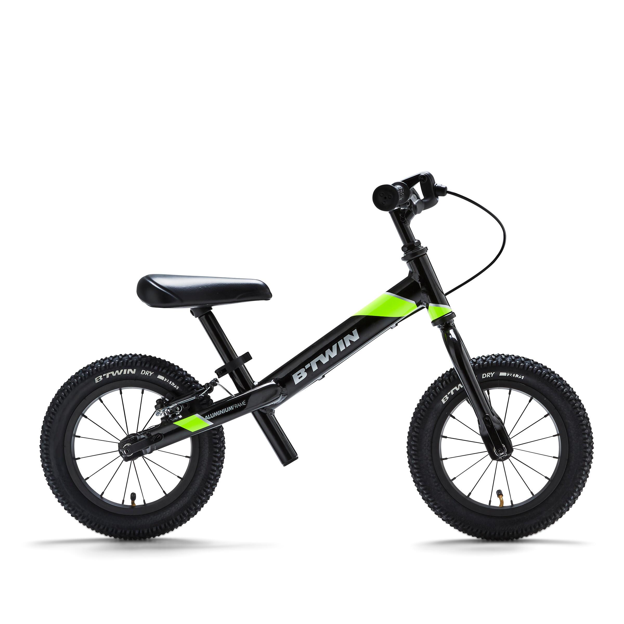 btwin bici senza pedali bambino runride 900 mtb nero-giallo 12