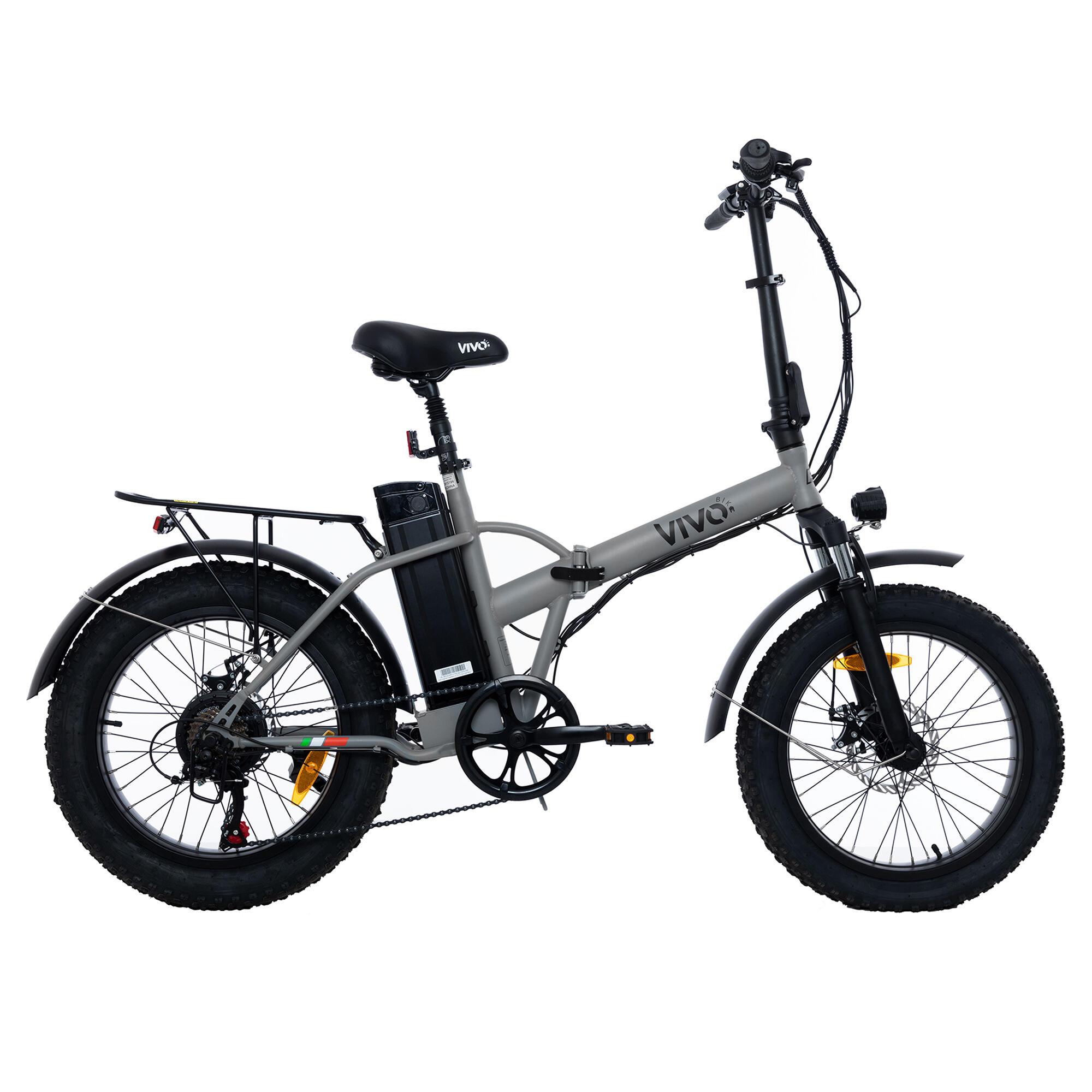 vivobike bici pieghevole elettrica a pedalata assistita fatbike  20