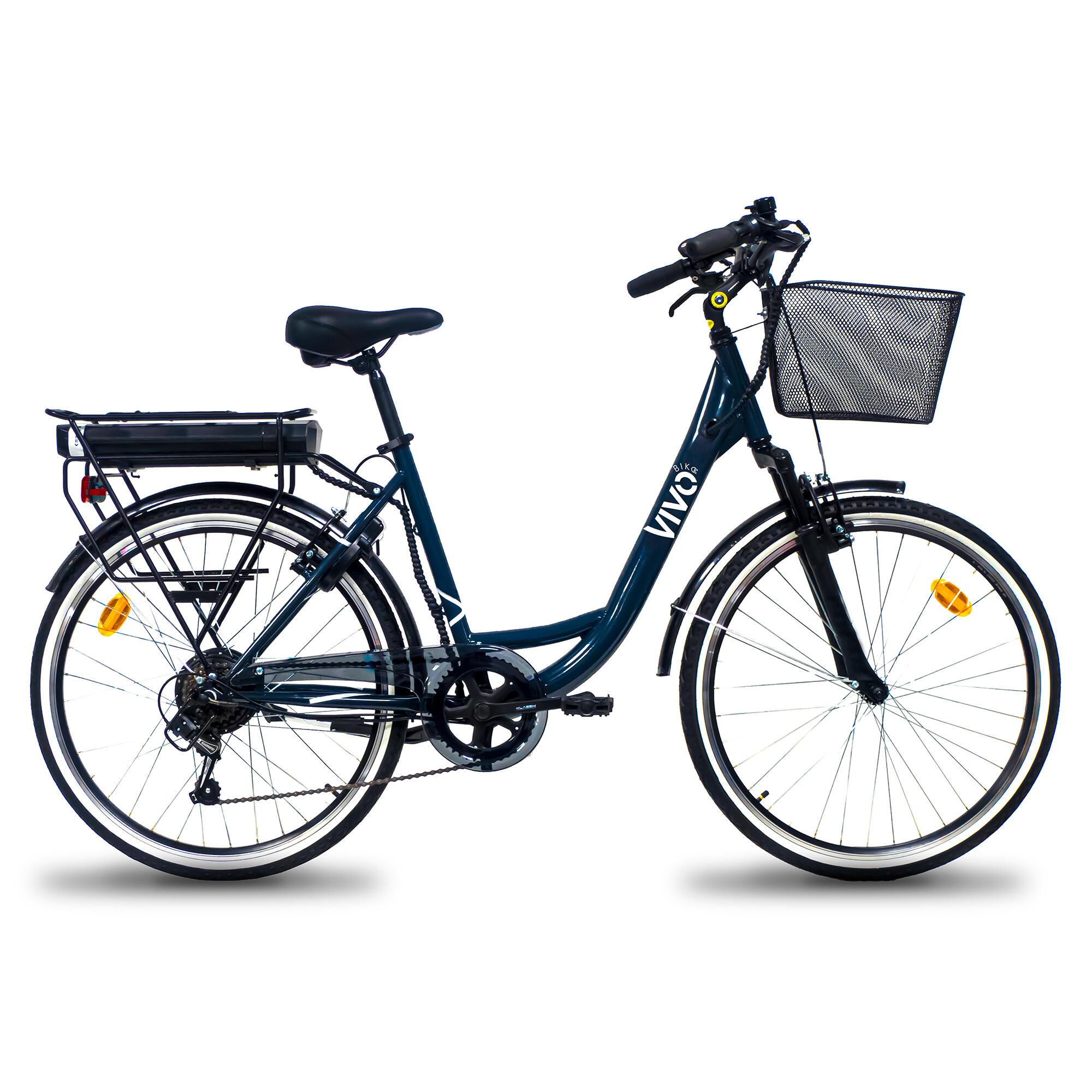 vivobike bici da città elettrica a pedalata assistita  milano 26