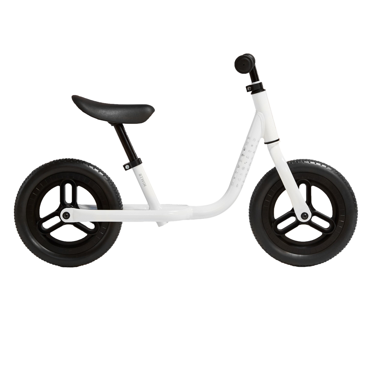 btwin bici senza pedali bambino runride 100 bianco-nero 10