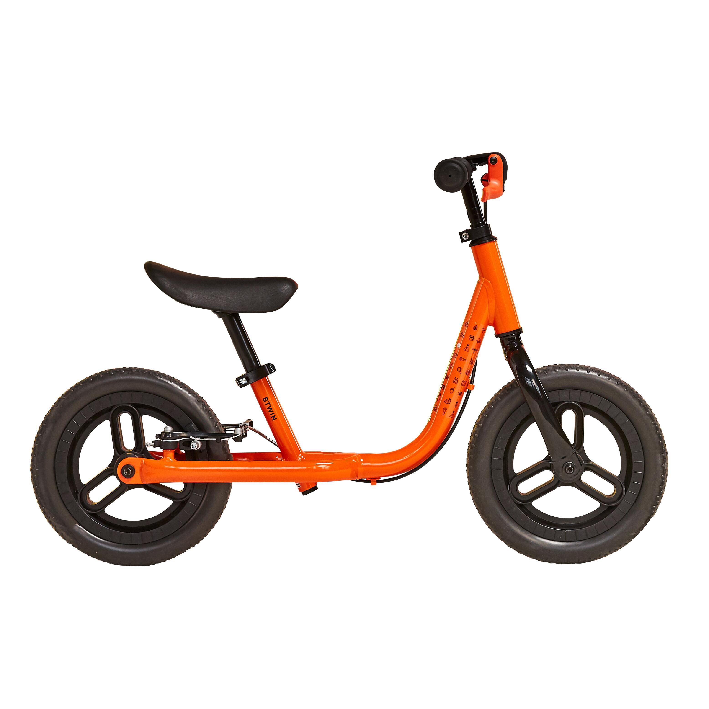 btwin bici senza pedali bambino runride 500 arancione-nero 10