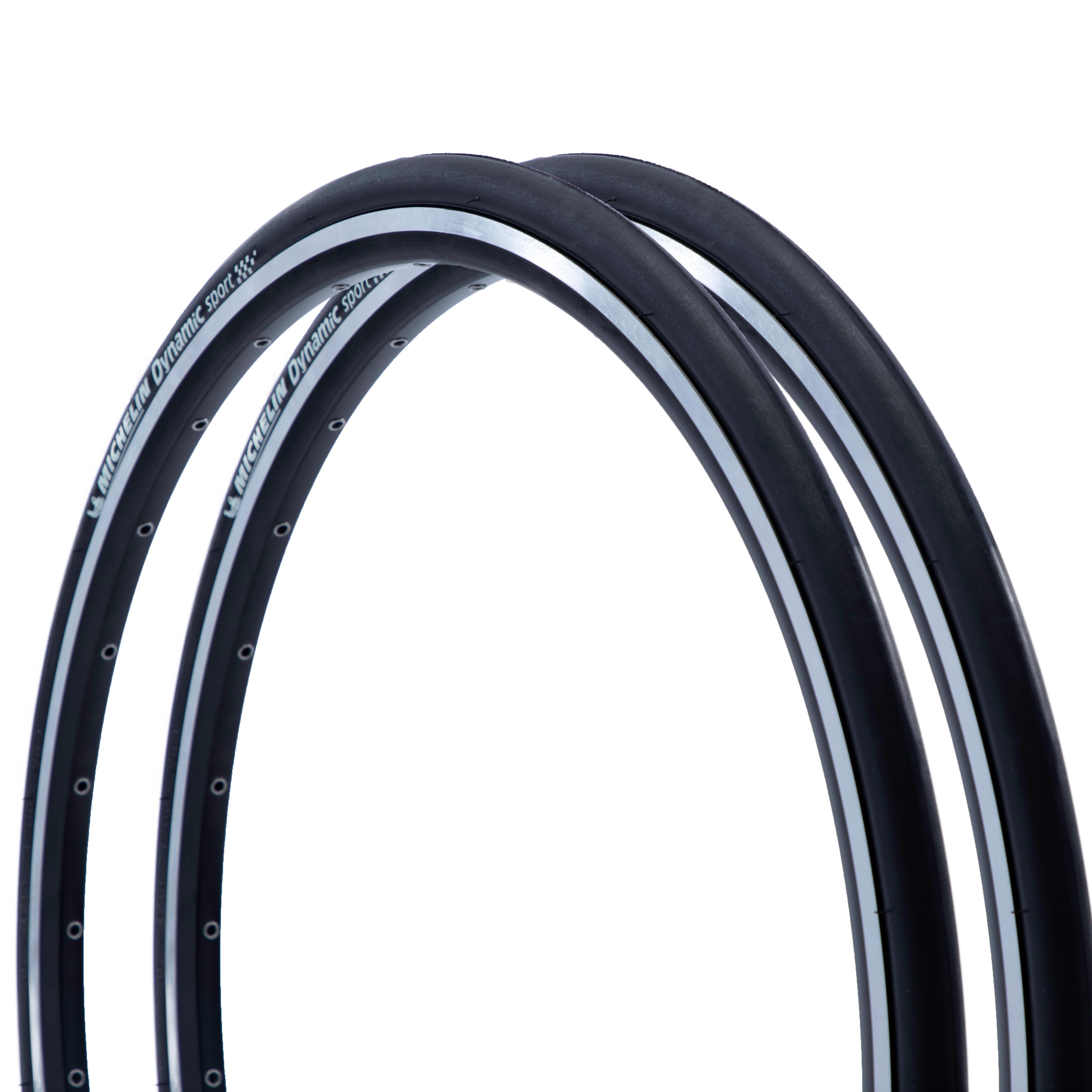 Michelin Due copertoni da corsa DYNAMIC SPORT 700x25 / ETRTO 25-622 neri