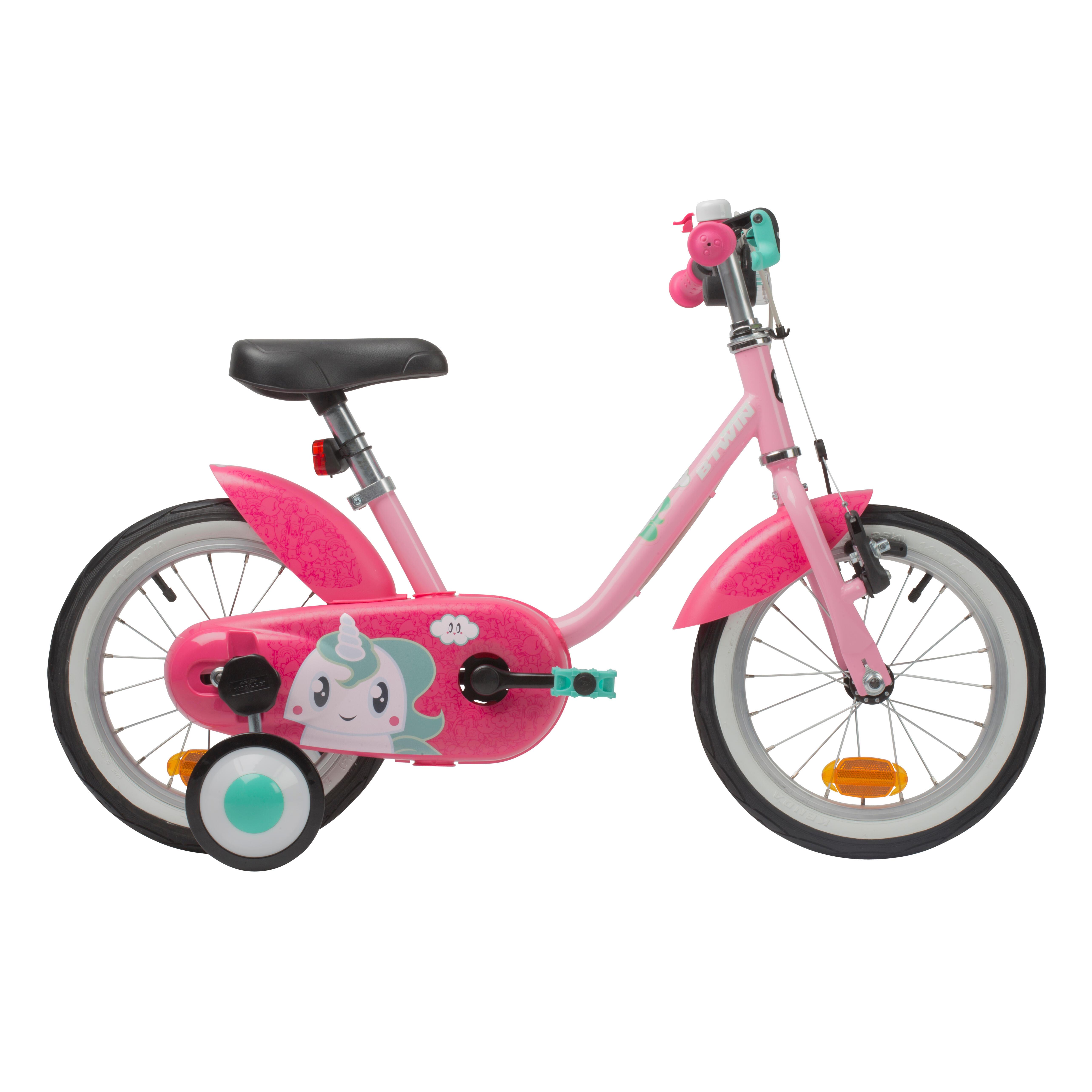 """BTWIN Bici bambina 3-5 anni 500 UNICORN 14"""""""