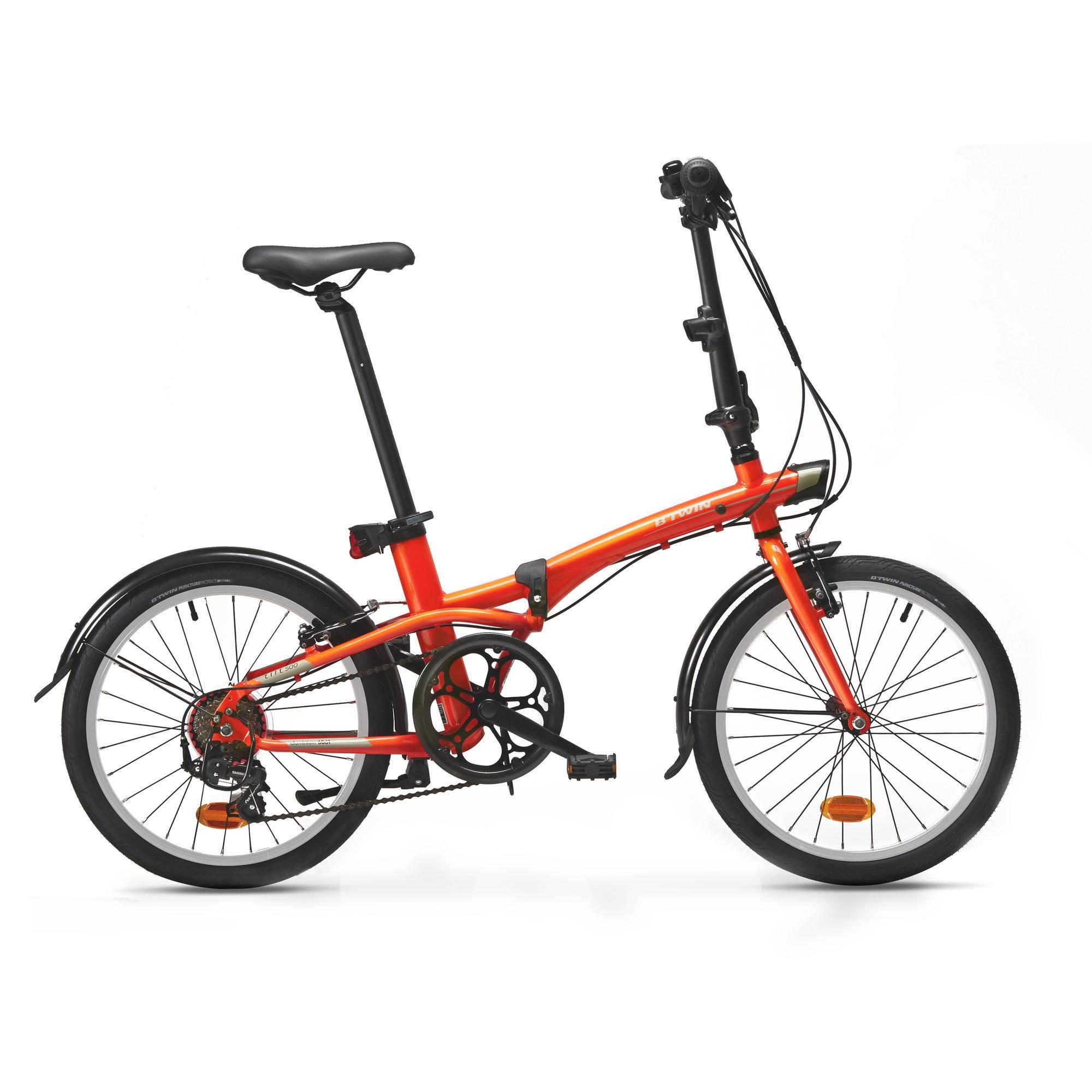 BTWIN Bici pieghevole TILT 500 arancione fluo