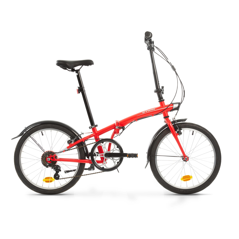 OXYLANE Bici pieghevole 120 rossa
