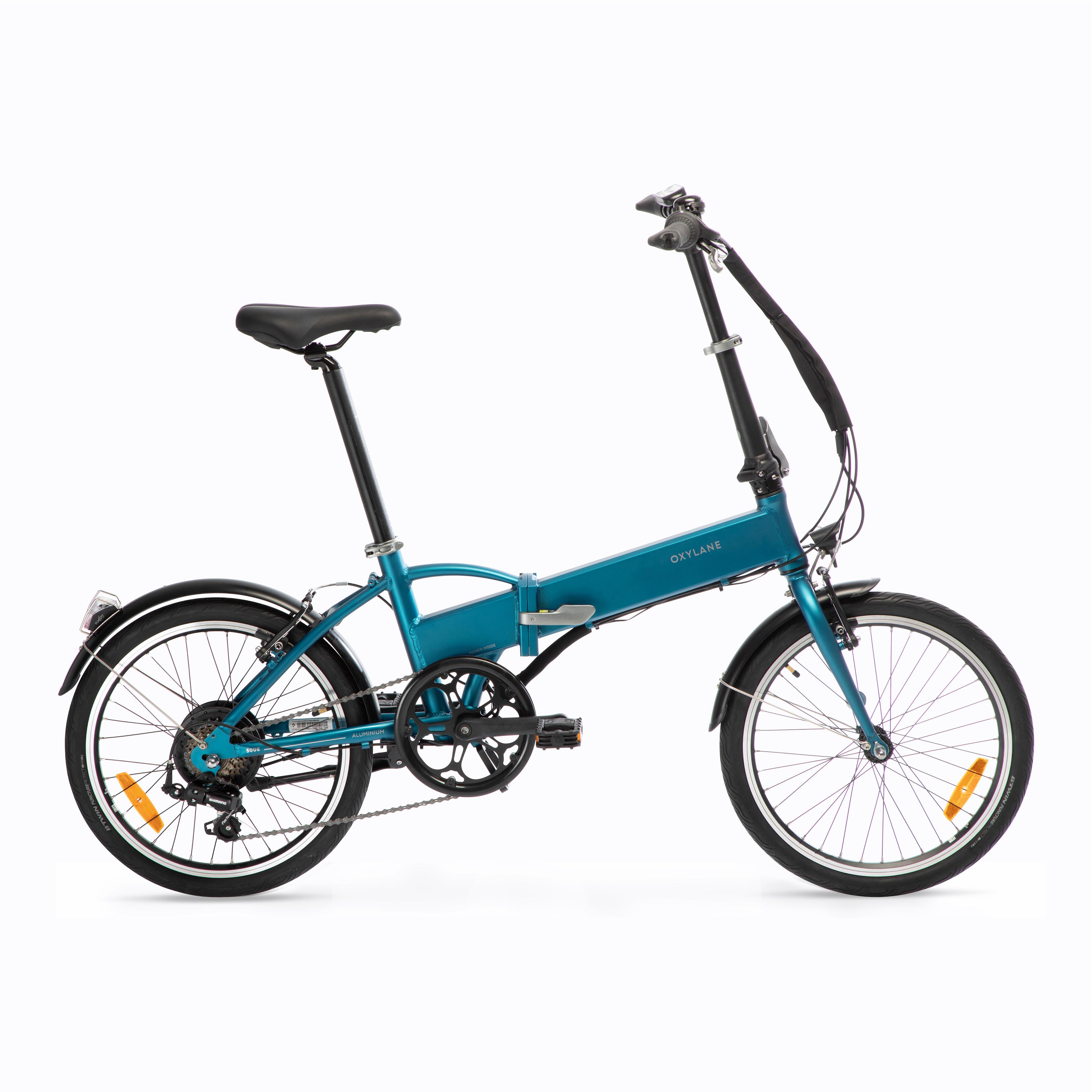 BTWIN Bici pieghevole a pedalata assistita TILT 500 E azzurra