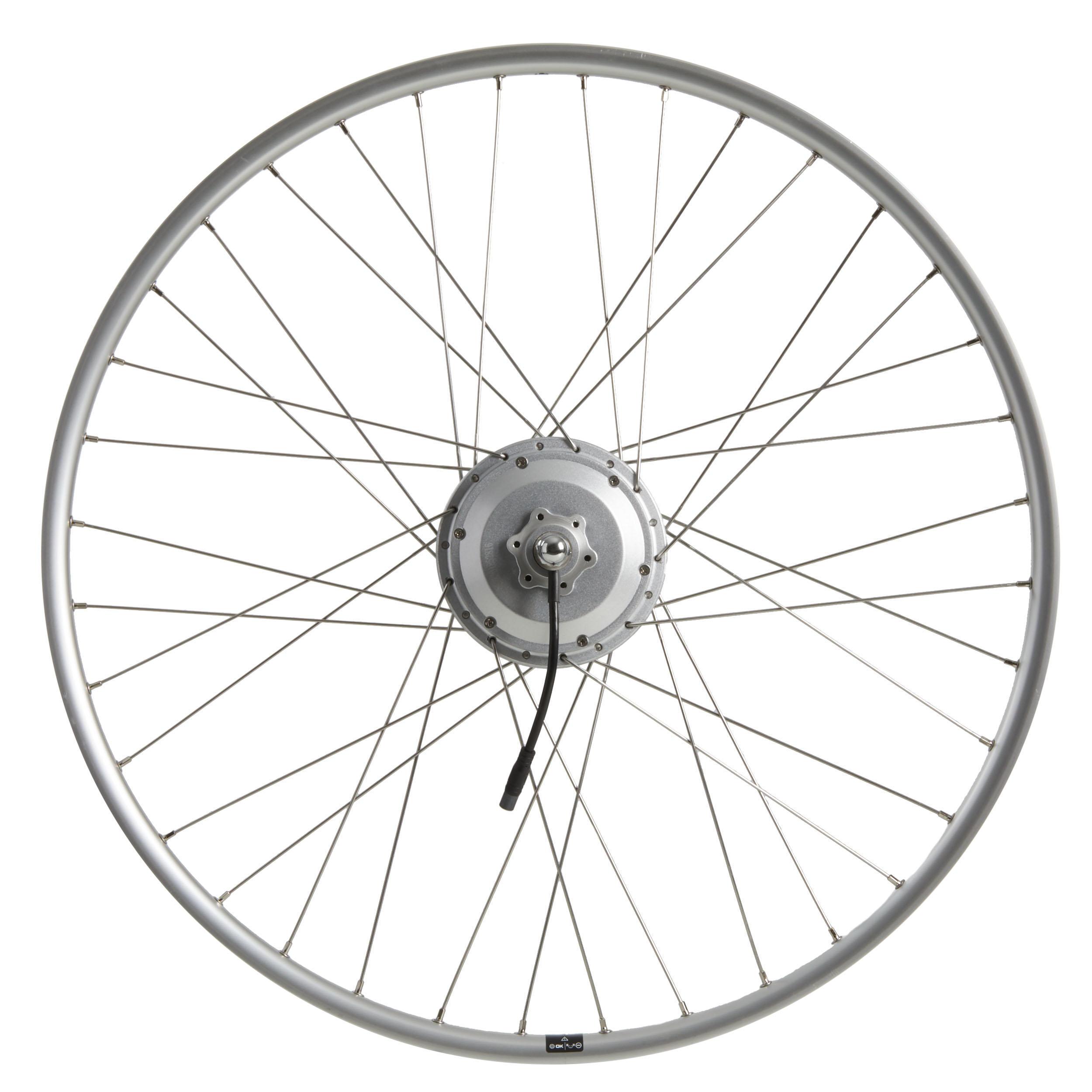 elops ruota post con motore 28 bici elettrica 900e,doppia parete 36 volt argento