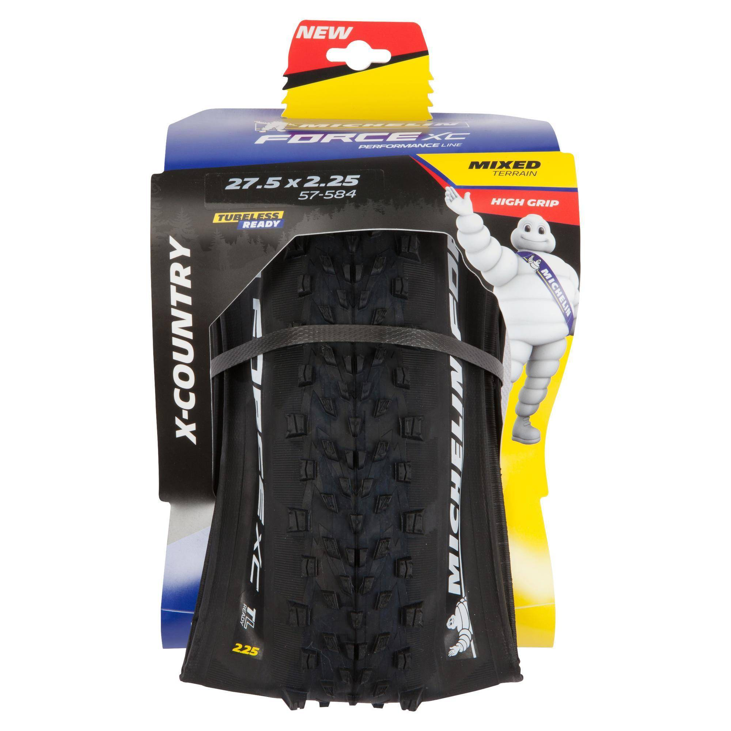 "Michelin Copertone mtb  FORCE XC PERF 27,5""x2.25 Tubeless Ready"