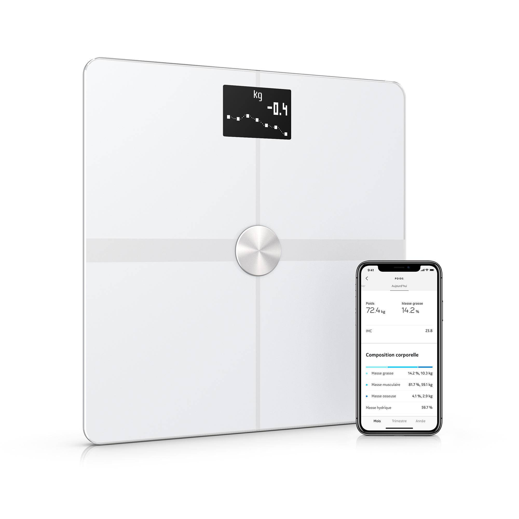 Withings Bilancia connessa Body + bianca
