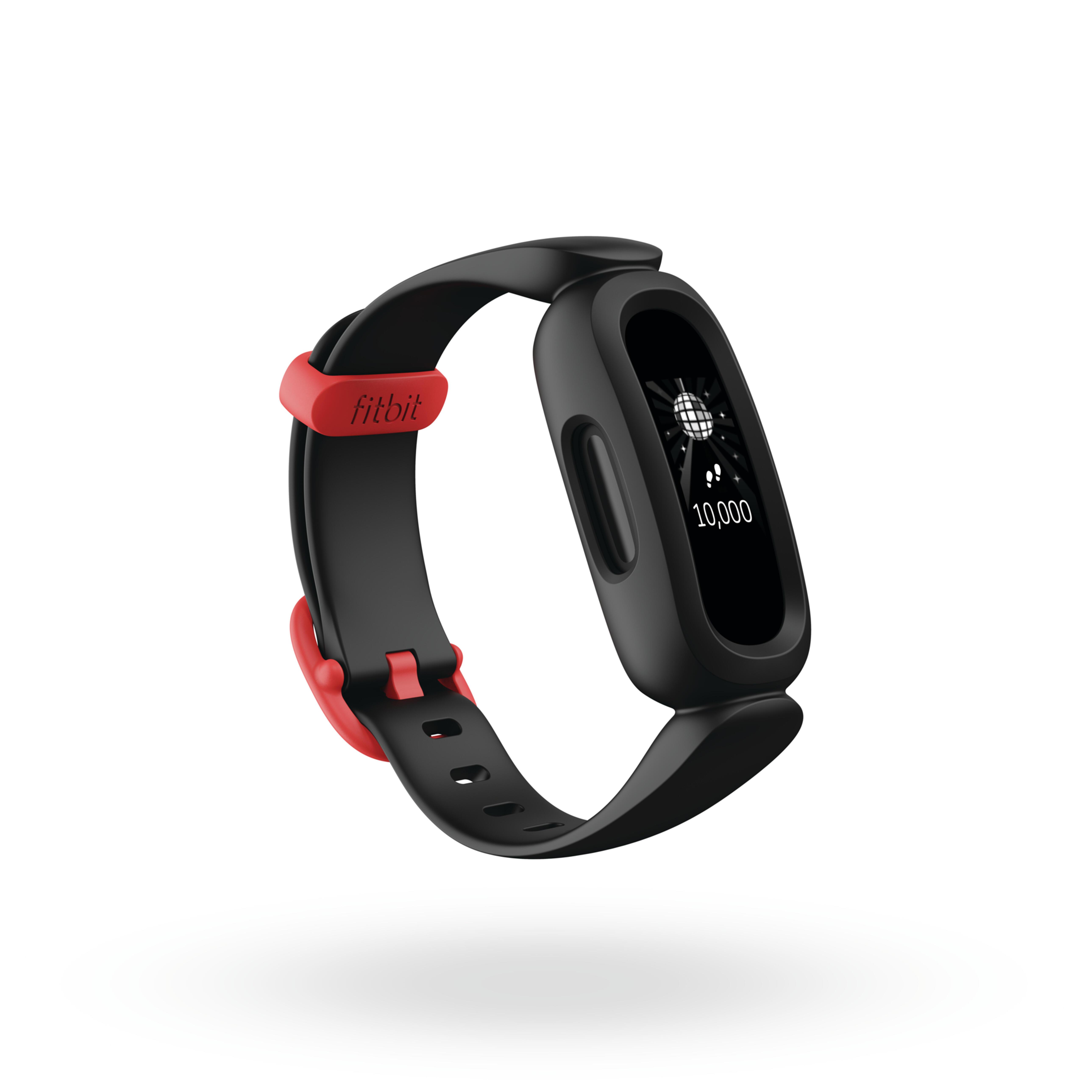 fitbit activity tracker bambino  ace 3 nero-rosso