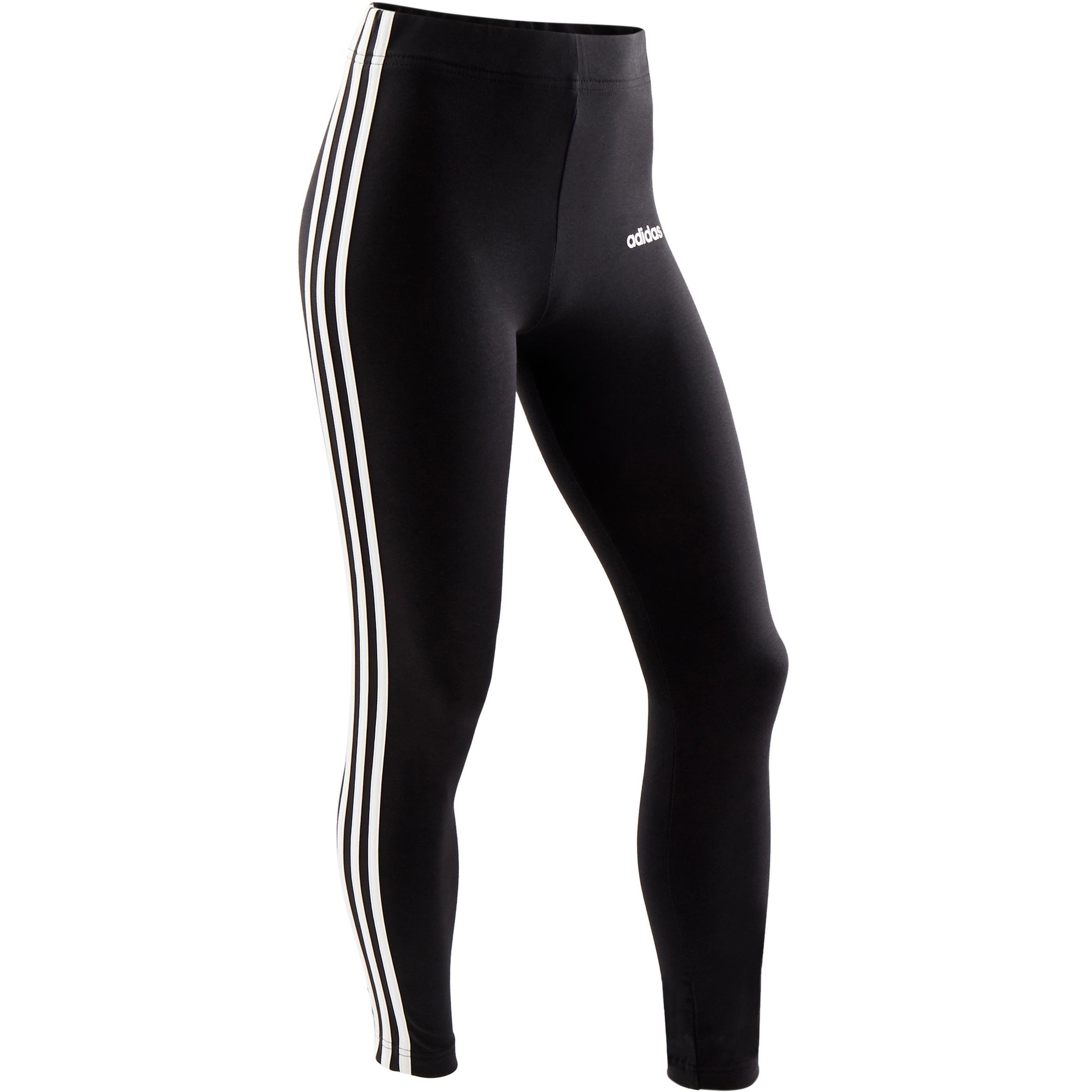 Adidas Leggings  gym bambina nero-bianco