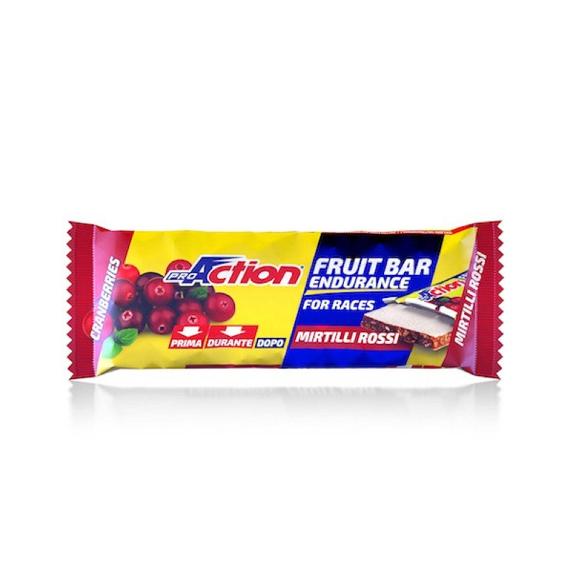 proaction barretta fruit bar endurance for races mirtillo rosso 40 g
