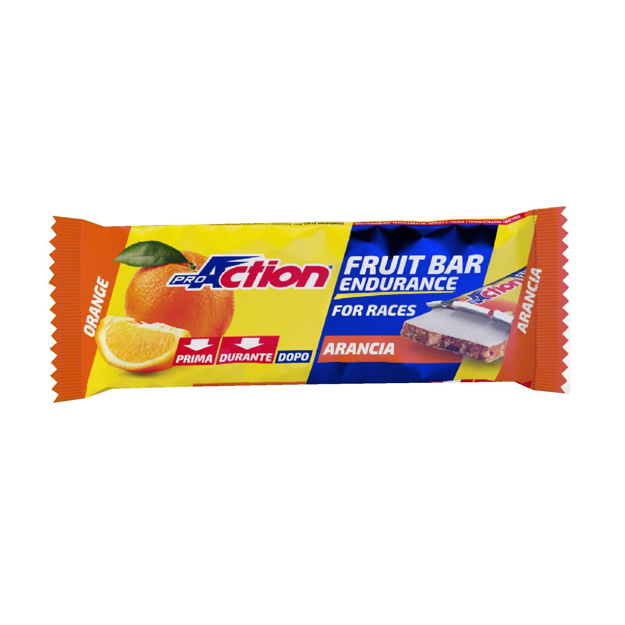 proaction barretta energetica fruit bar  arancia 40 g