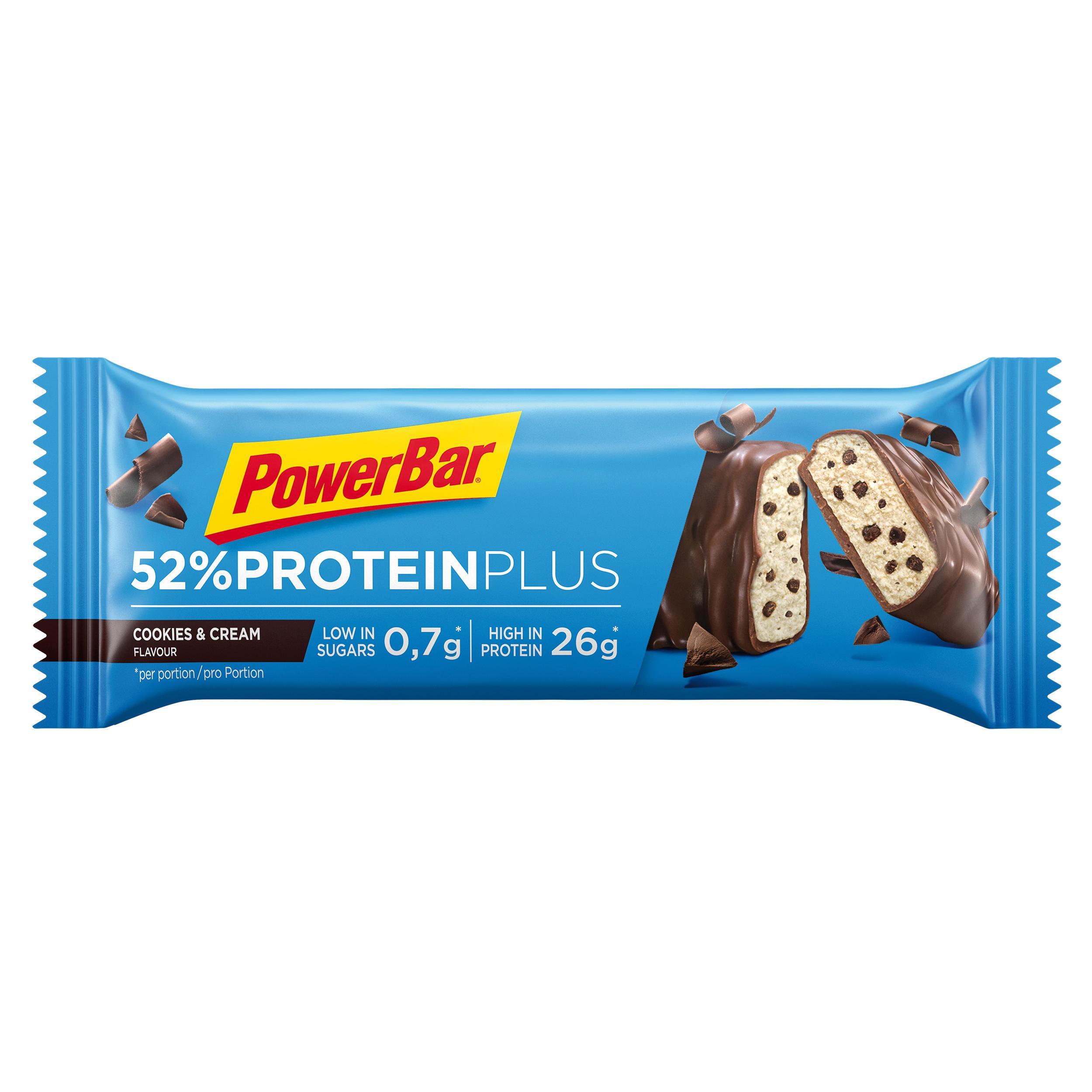 powerbar barretta proteica protein plus 52% cookie & cream 50g