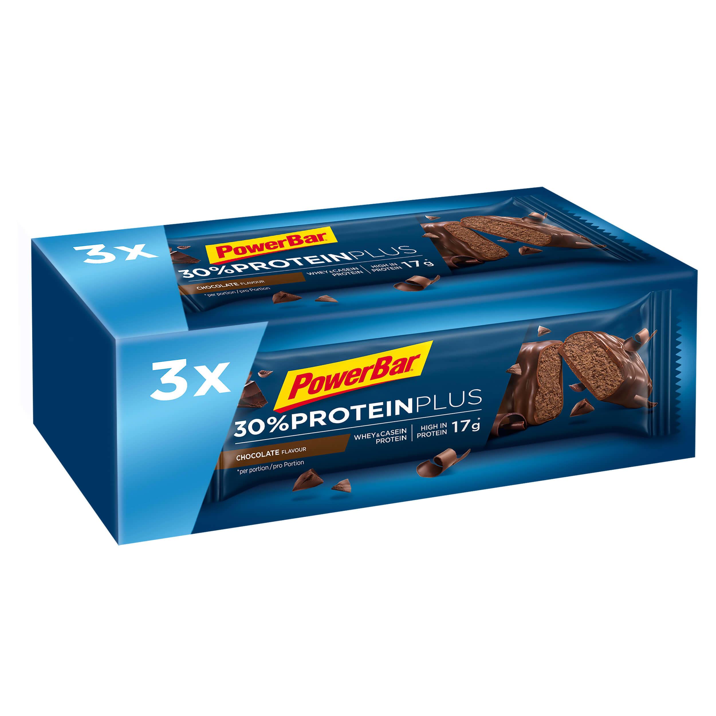 powerbar barretta proteica protein plus cioccolato 3x55g
