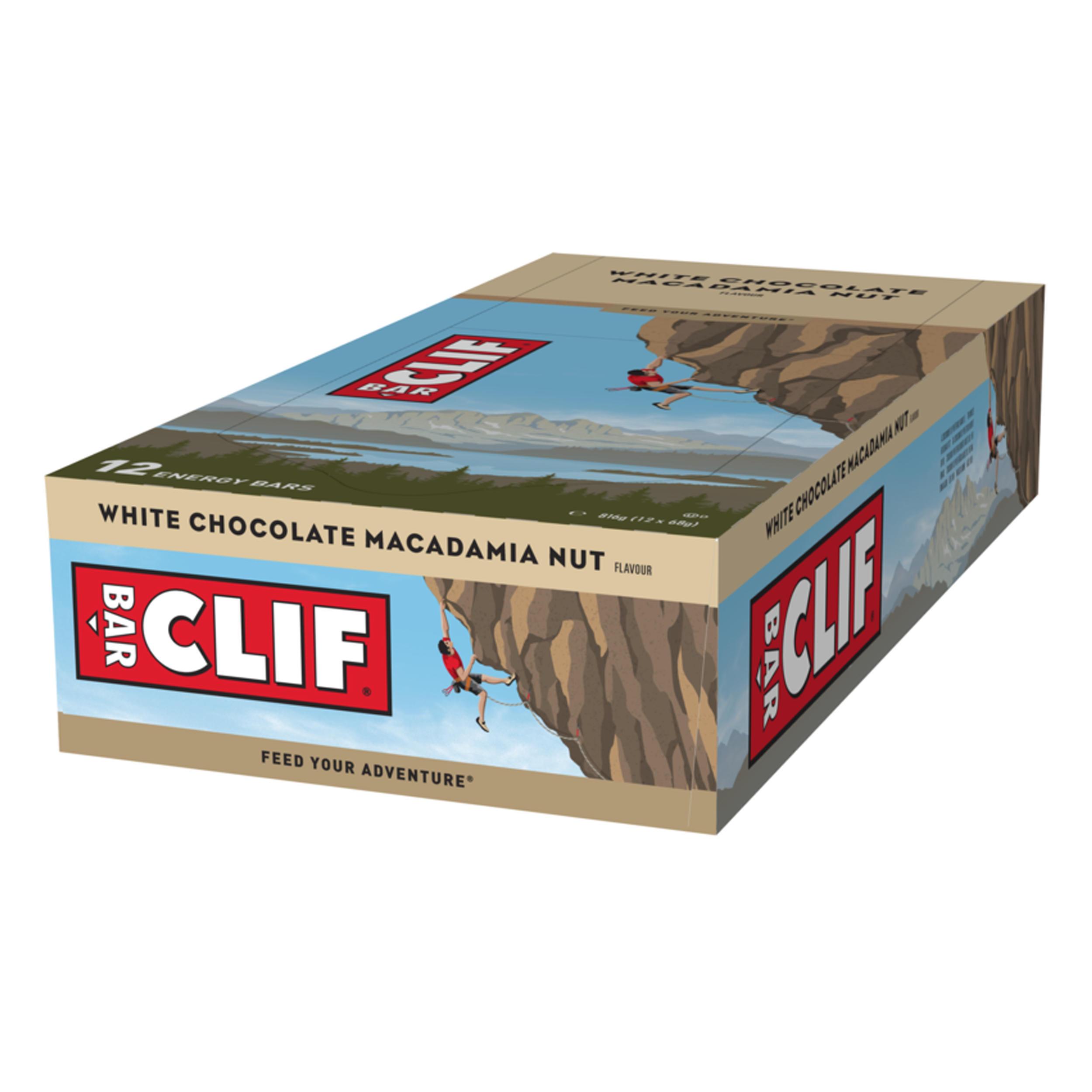 clif barretta energetica al cioccolato bianco e macadamia 12x(68 g)