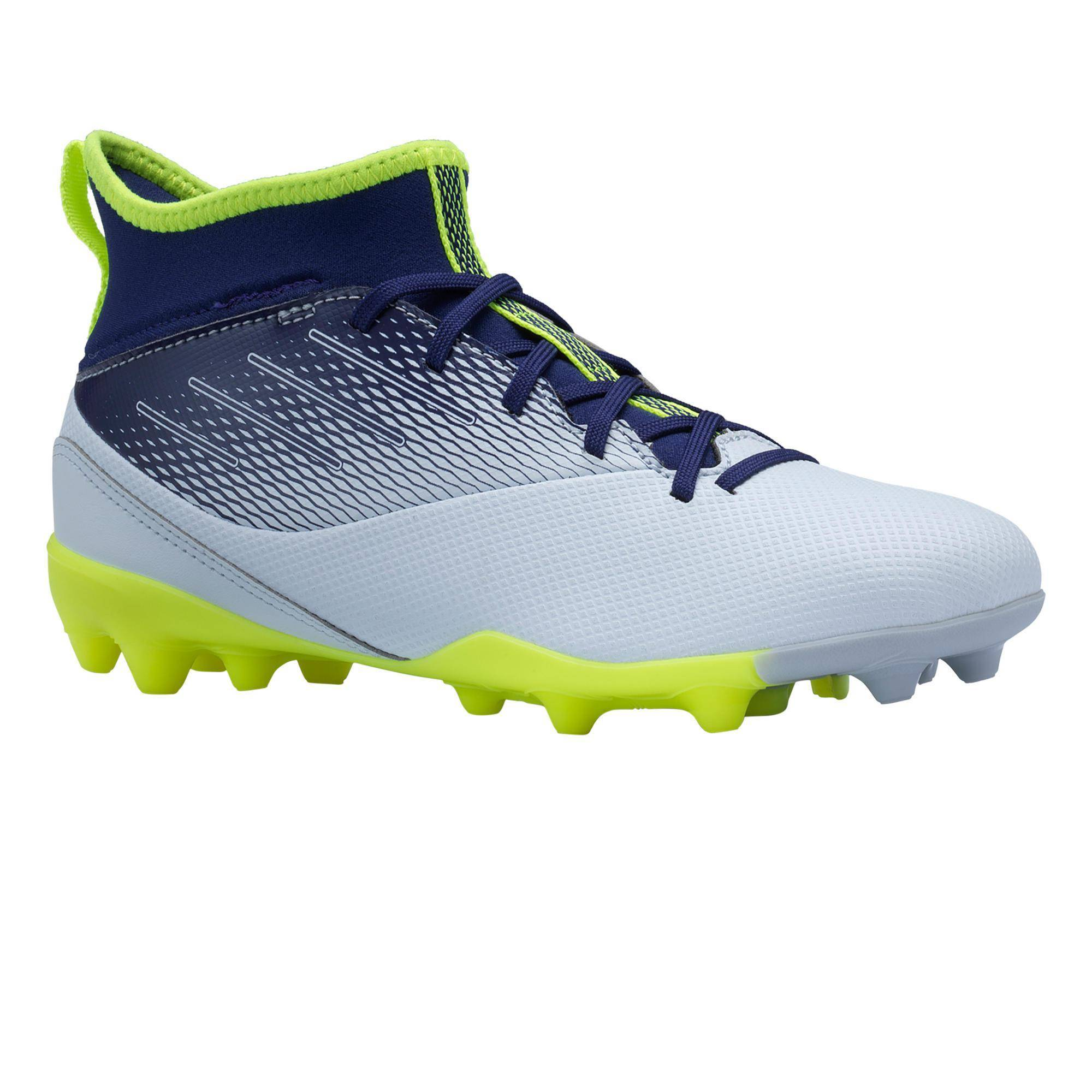 KIPSTA Scarpe calcio bambino AGILITY 500 MG grigio-blu