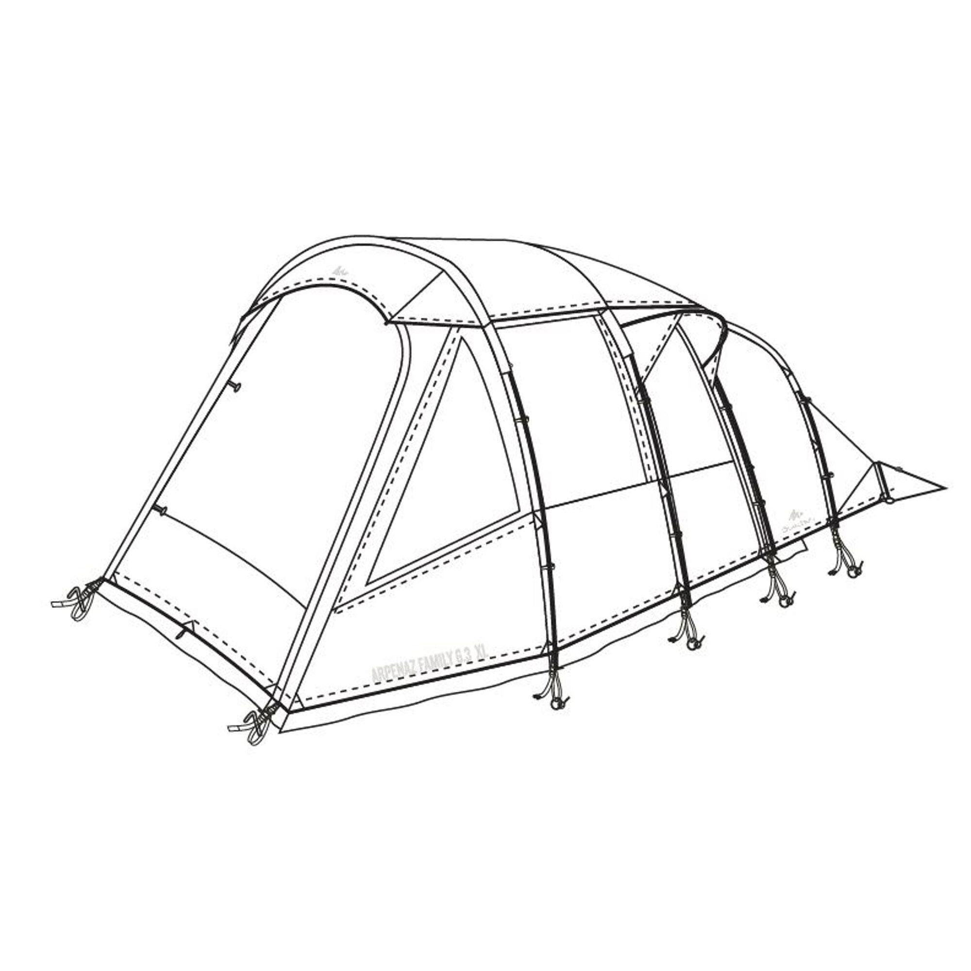 quechua doppio tetto per tenda arpenaz family 6.3 xl