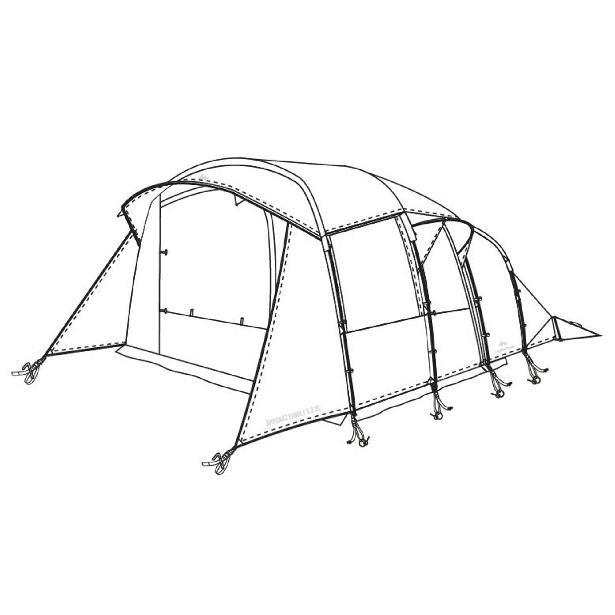 quechua doppio tetto per tenda arpenaz 5.2 xl
