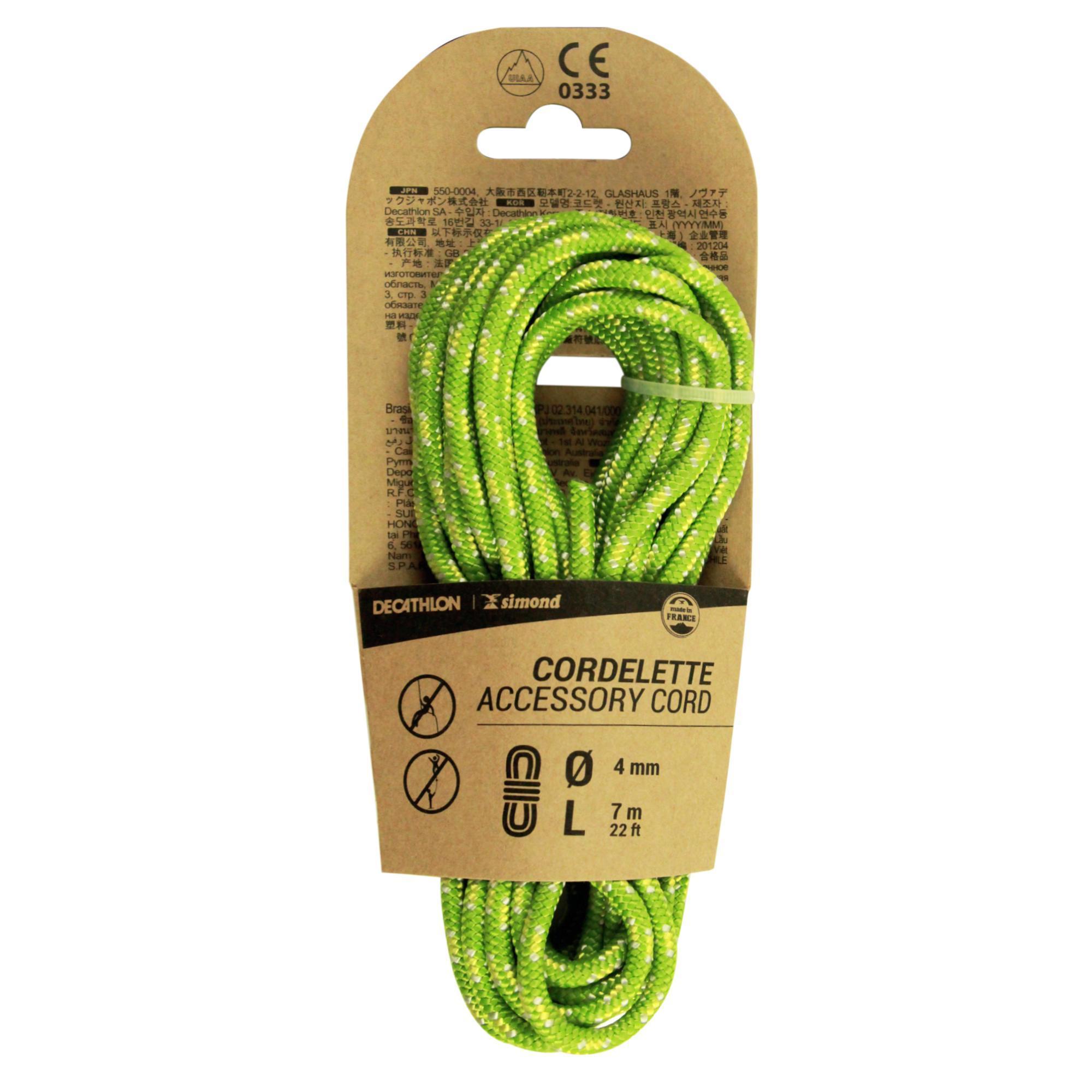 simond cordino 4mm x 7m verde