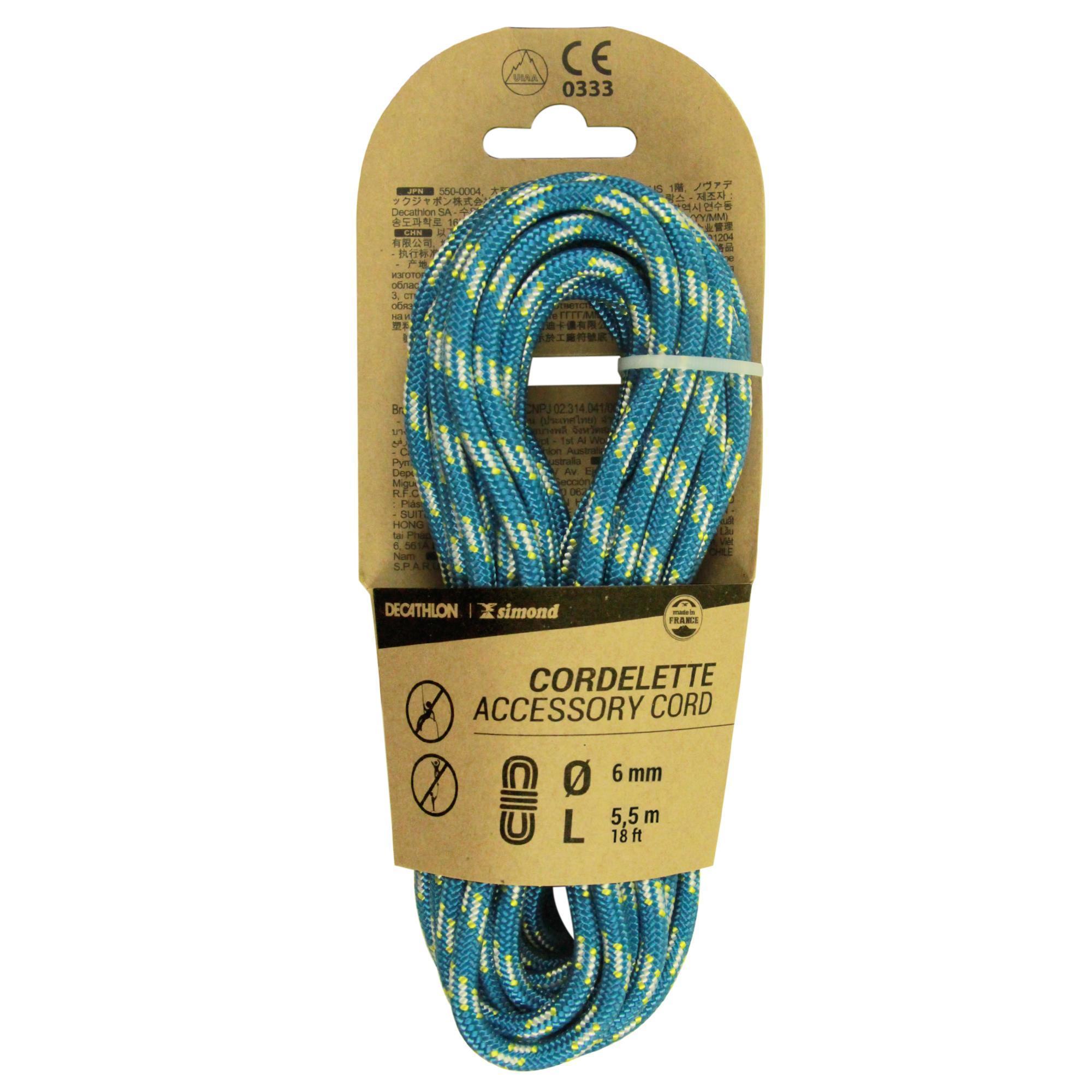 simond cordino 6mm x 5.5m azzurro
