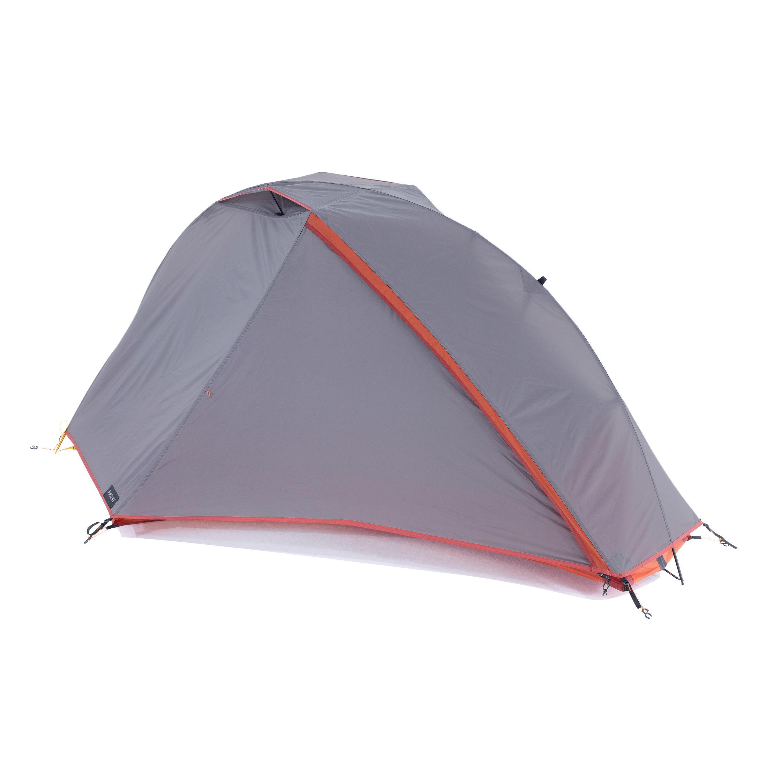 forclaz tenda trekking autoportante 3 stagioni trek900 grigia  1 posto