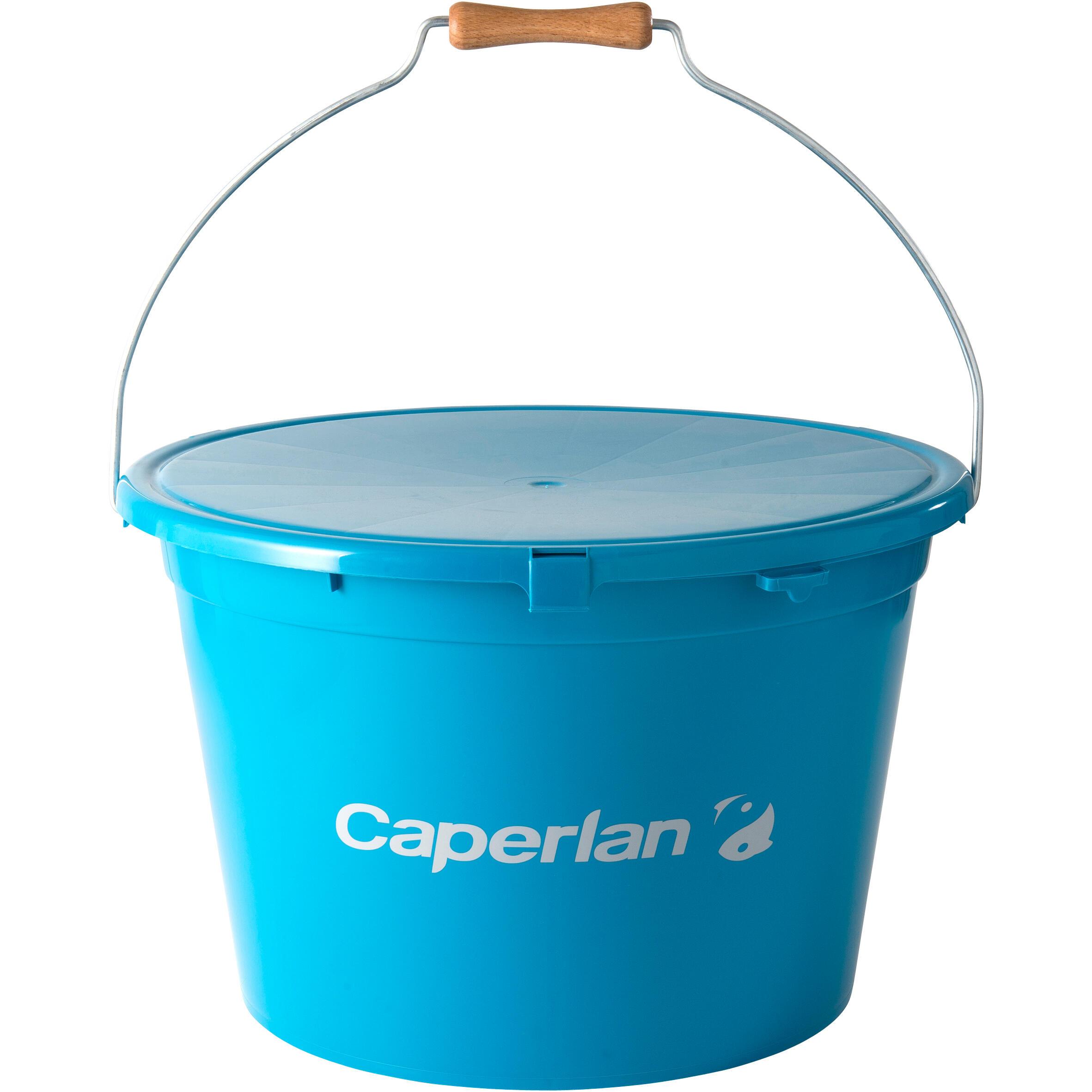 CAPERLAN Secchio 25L, vaschetta e coperchio pesca al colpo