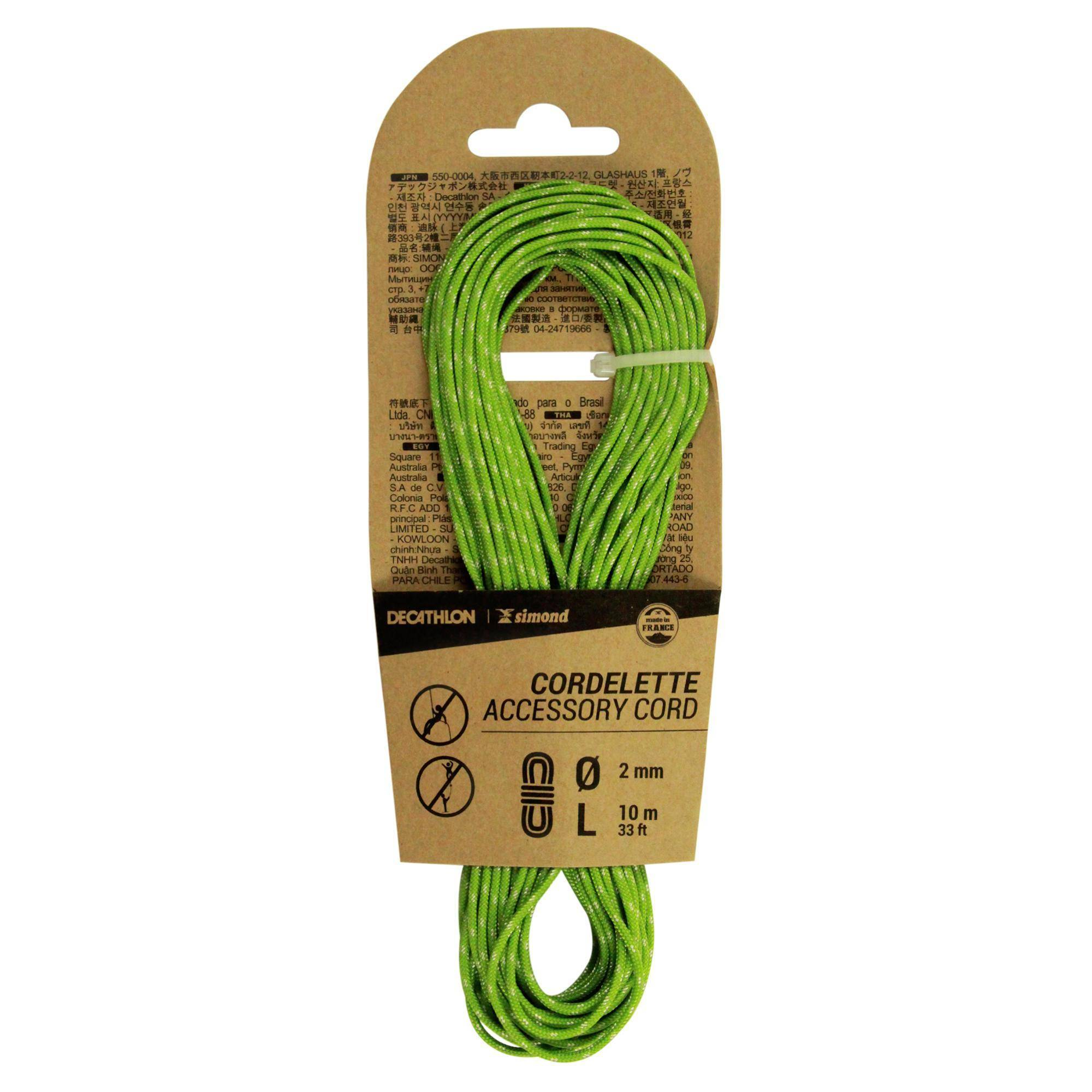 simond cordino 2mm x 10m verde