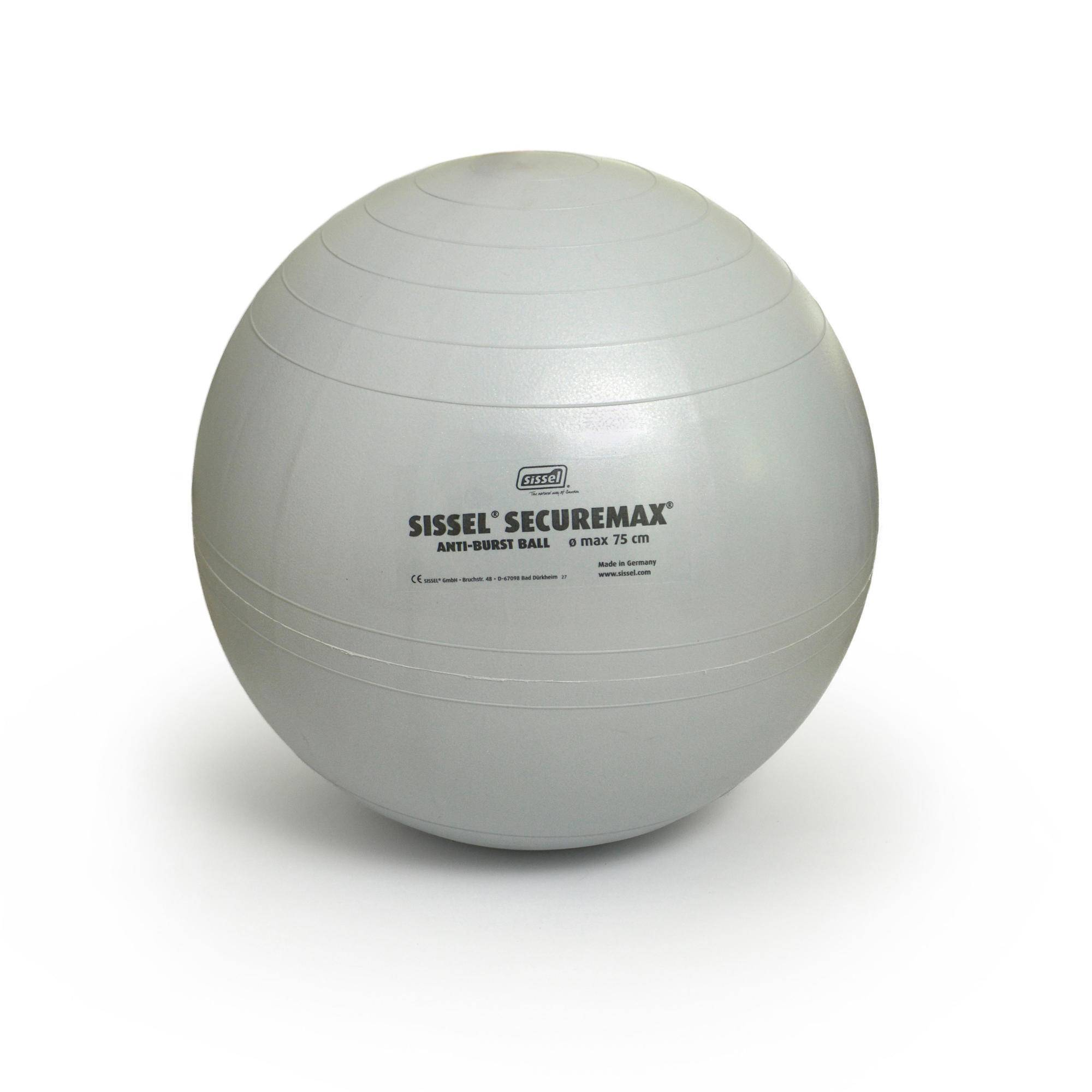 sissel fitball  taglia 3 75 cm grigia