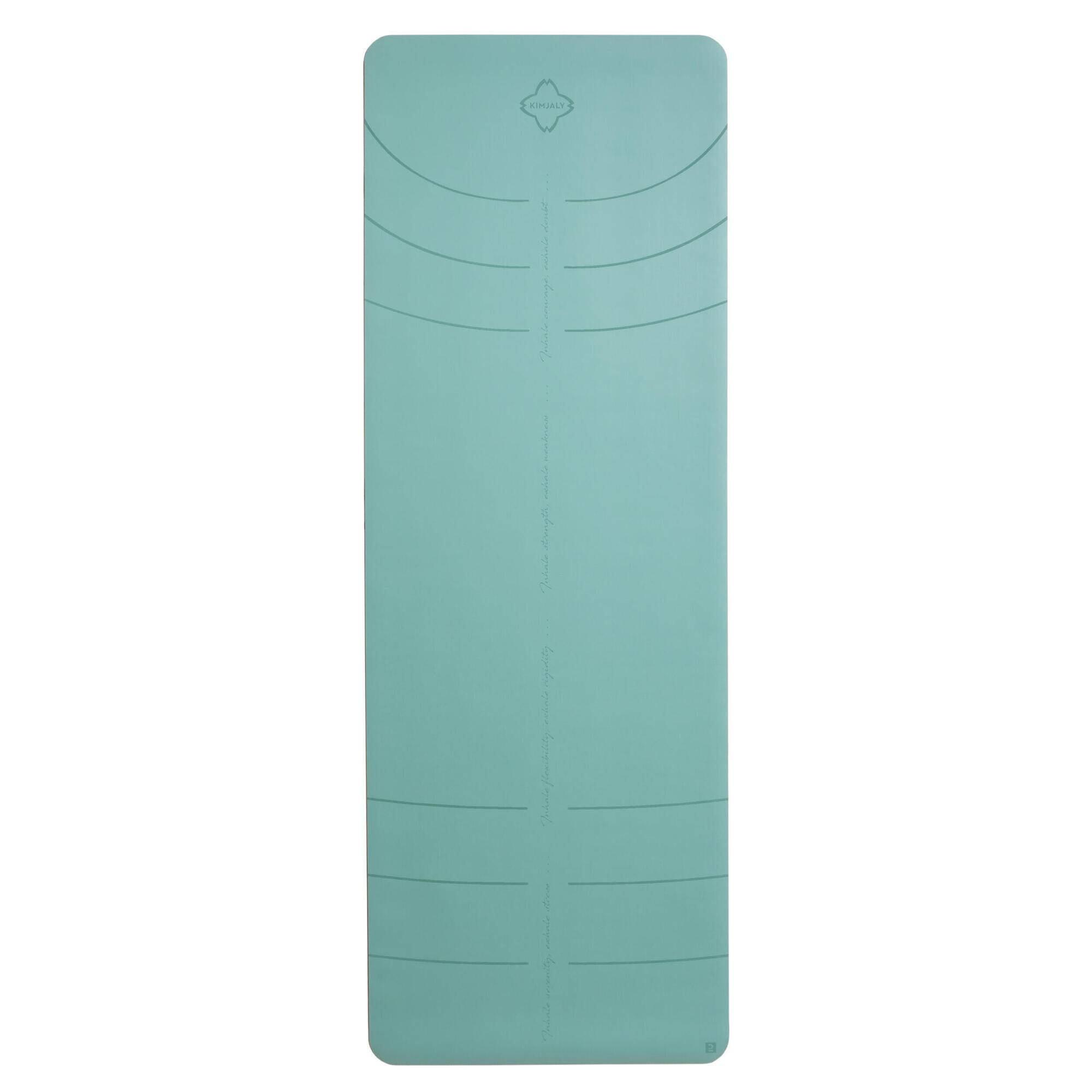 kimjaly tappetino yoga grip+ verde 185x65x0,3cm