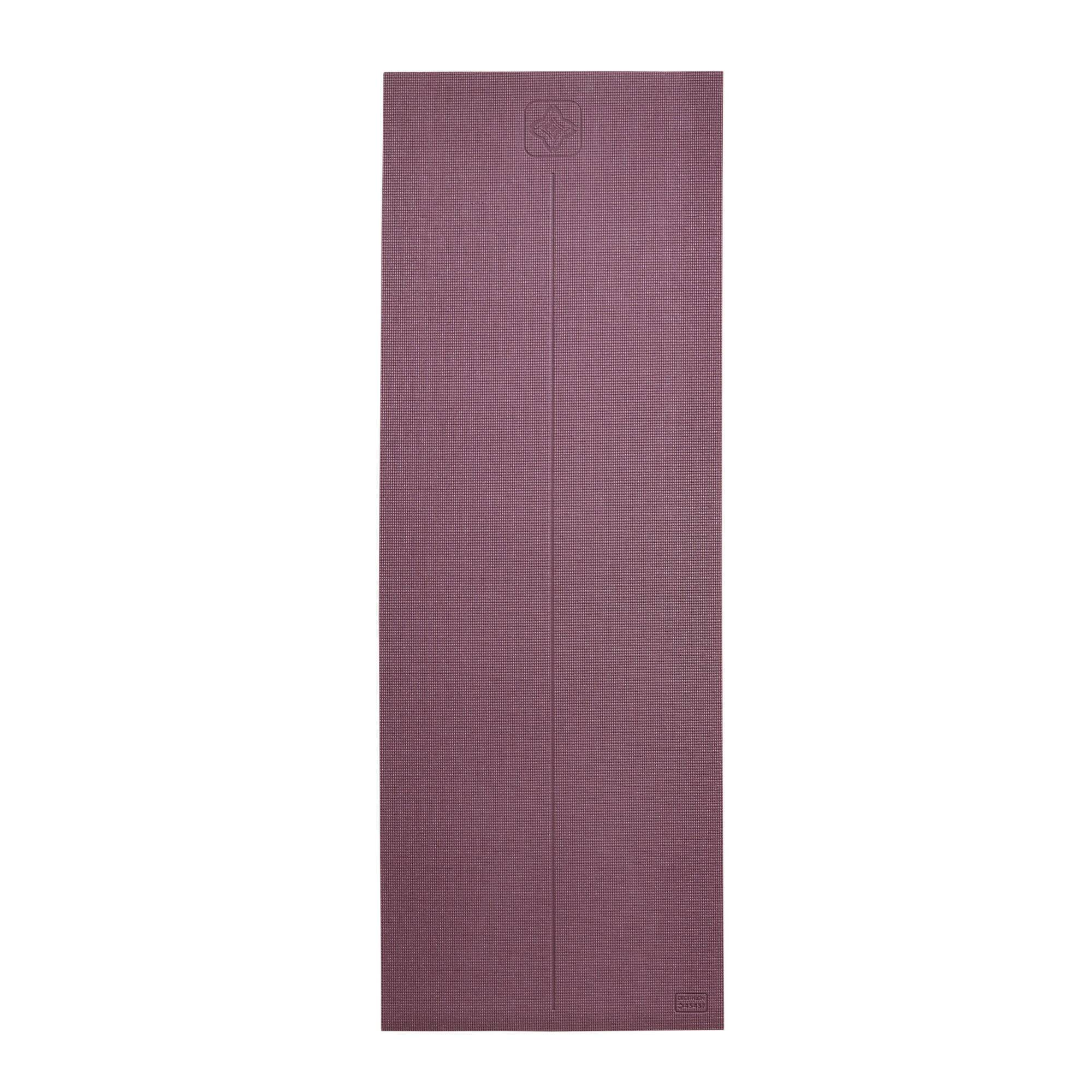 kimjaly tappetino yoga comfort 8mm bordeaux 173x61cm