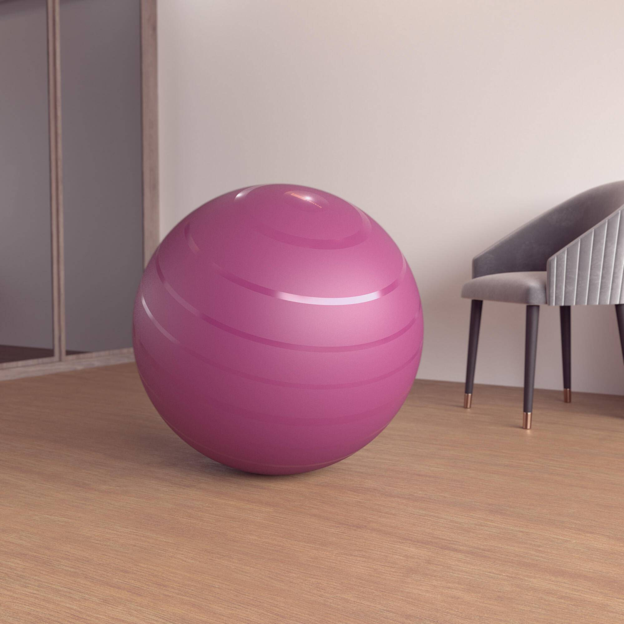 nyamba fitball taglia 3 75 cm bordeaux