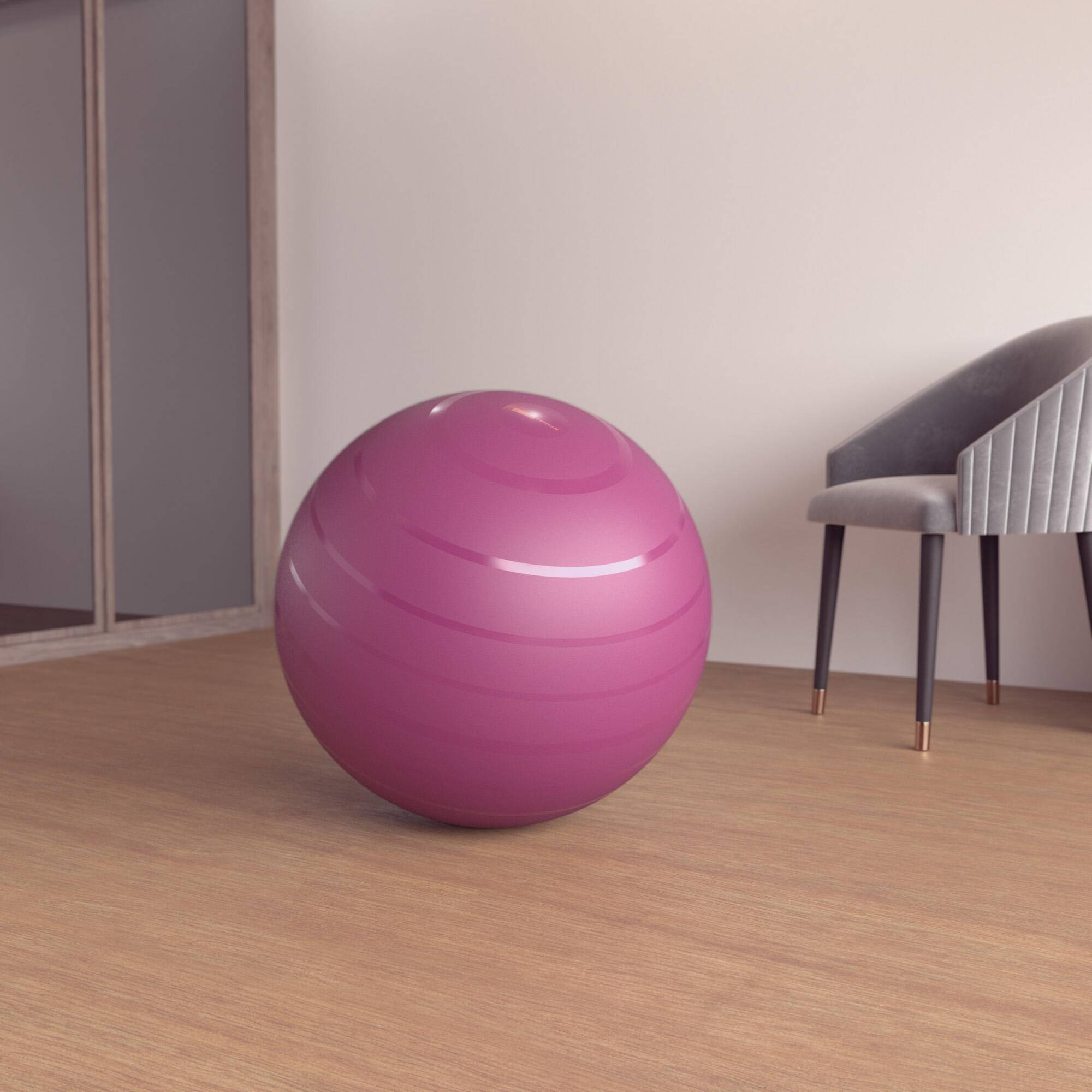 nyamba fitball taglia m 65cm bordeaux