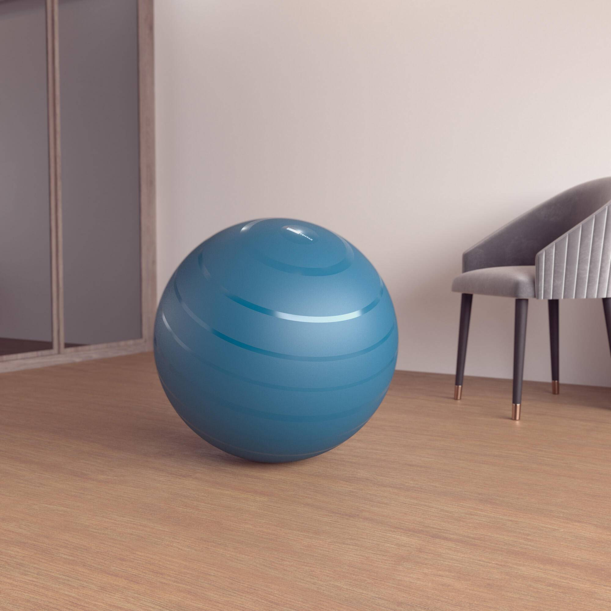 nyamba fitball taglia 2 65cm azzurra