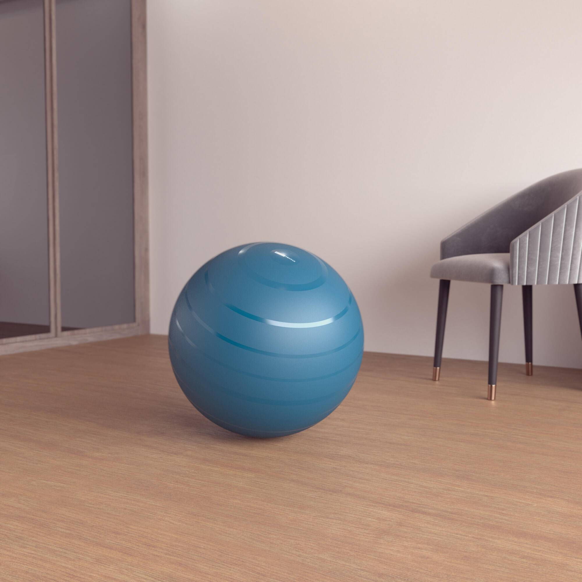 nyamba fitball taglia 1 55cm azzurra